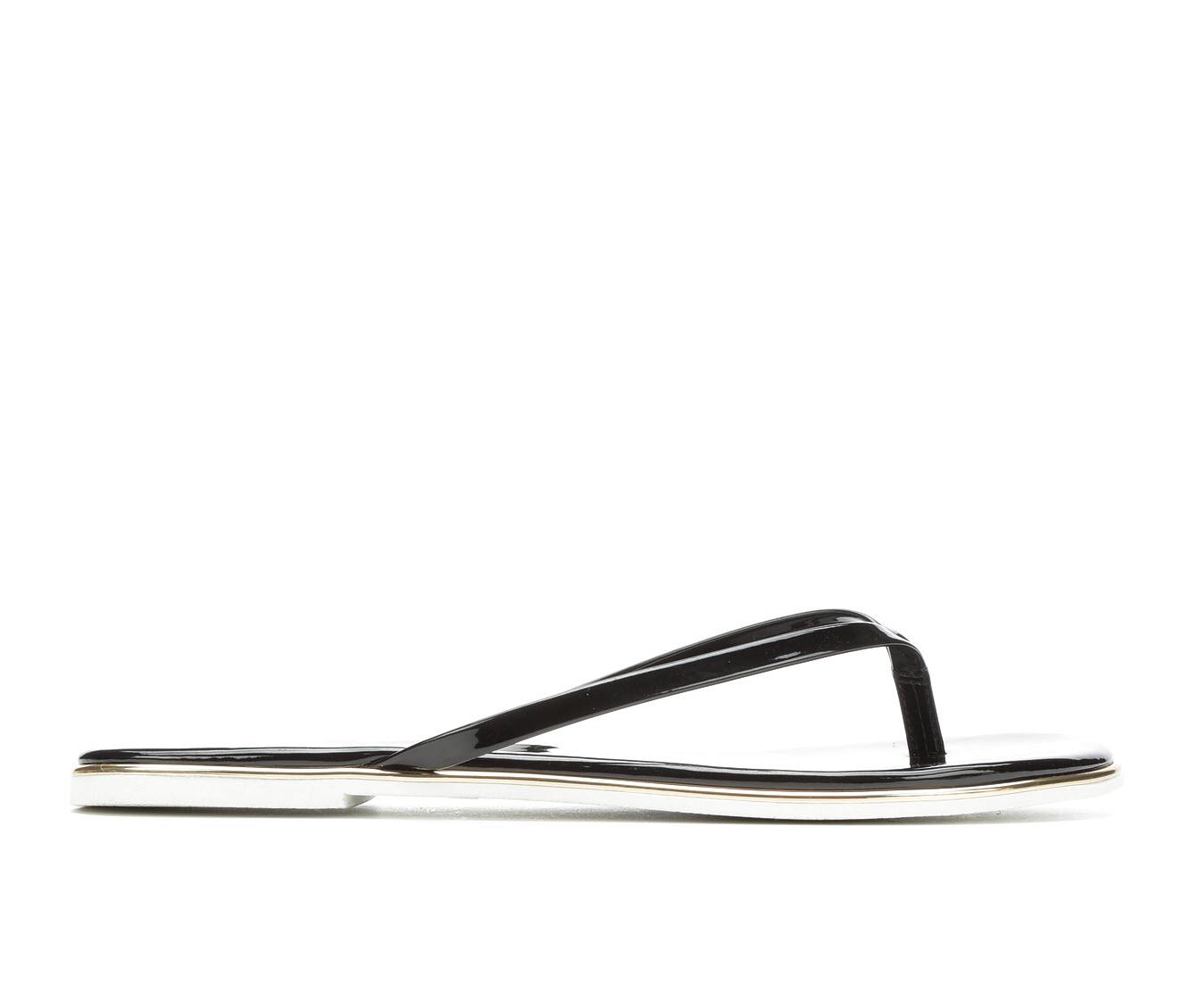 Bebe Sport Ilistra Women's Sandal (Black Faux Leather)