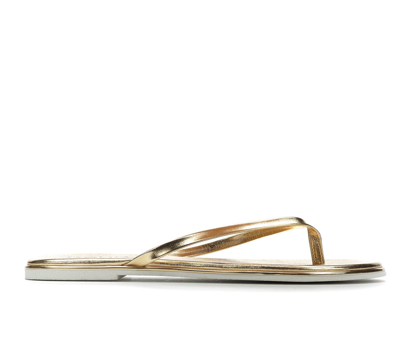Bebe Sport Ilistra Women's Sandal (Gold Faux Leather)