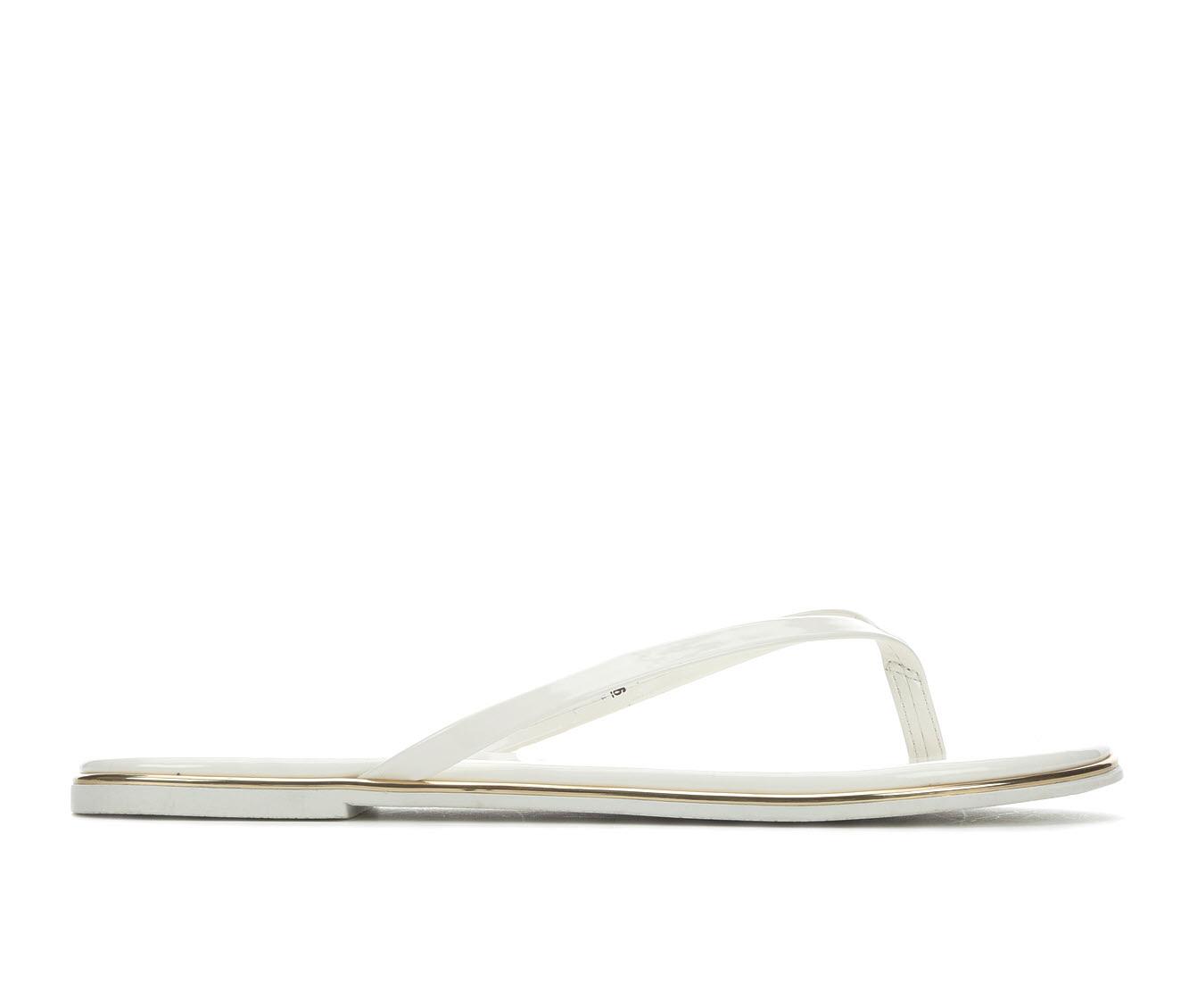Bebe Sport Ilistra Women's Sandal (White Faux Leather)