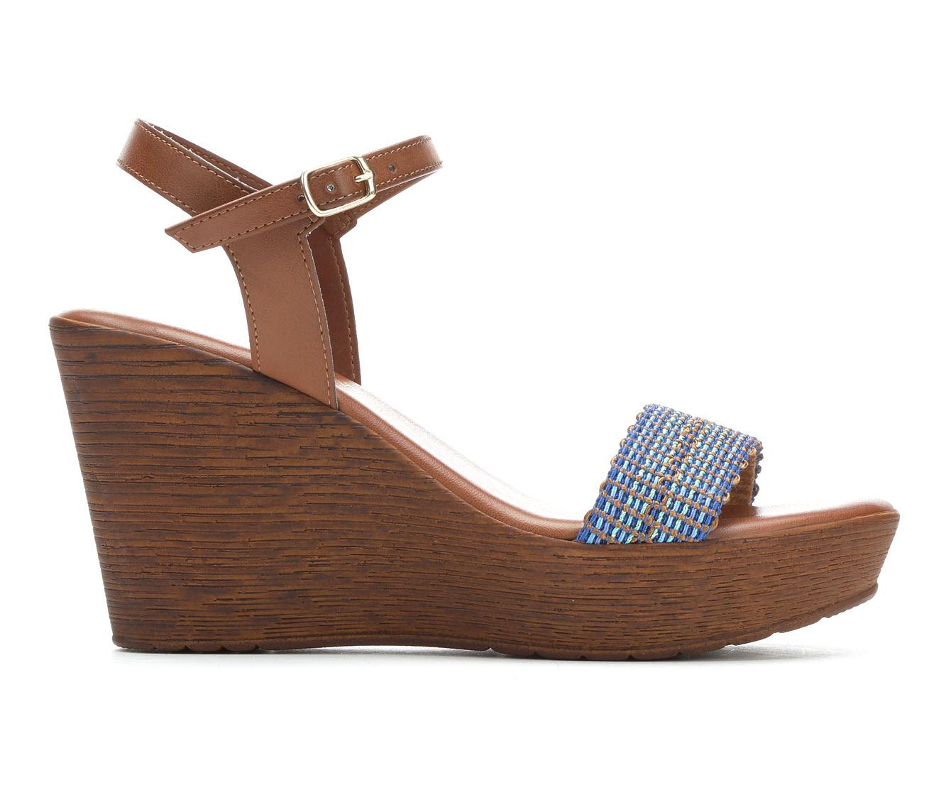 Italian Shoemakers Awake Women's Sandal (Blue Canvas)