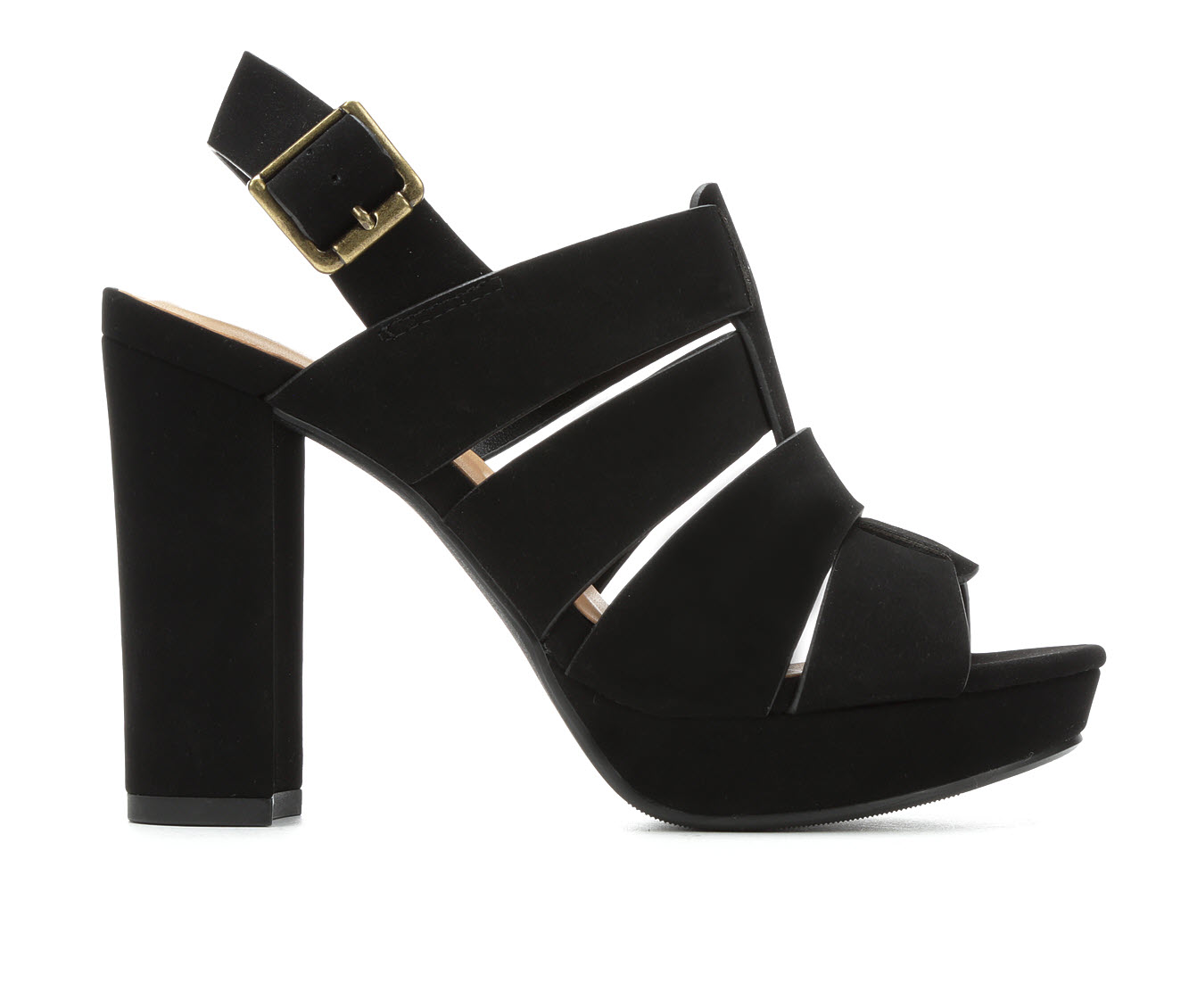 Y-Not Ashleigh Women's Dress Shoe (Black Faux Leather)