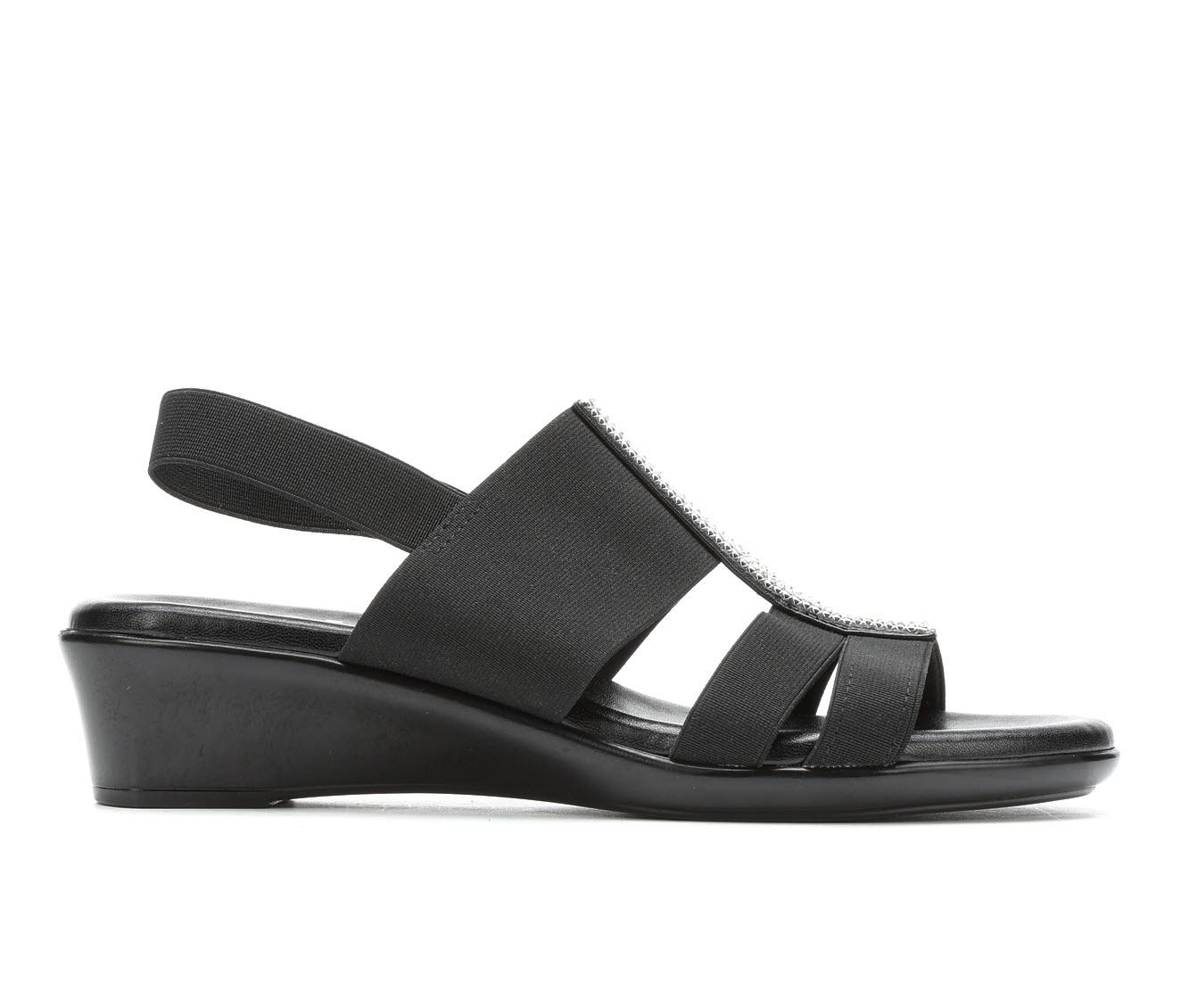 Italian Shoemakers Endure Women's Sandal (Black Canvas)