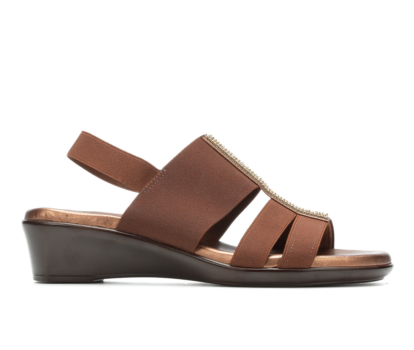 Italian Shoemakers Endure Women's Sandal (Brown Canvas)