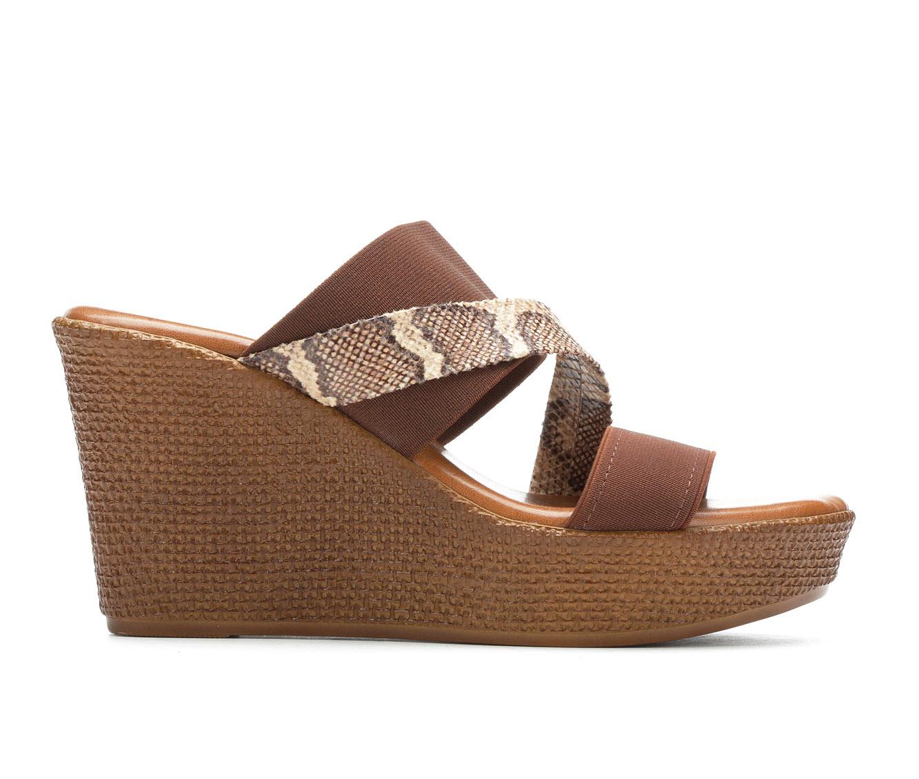 Italian Shoemakers Infiniti Women's Sandal (Brown Canvas)