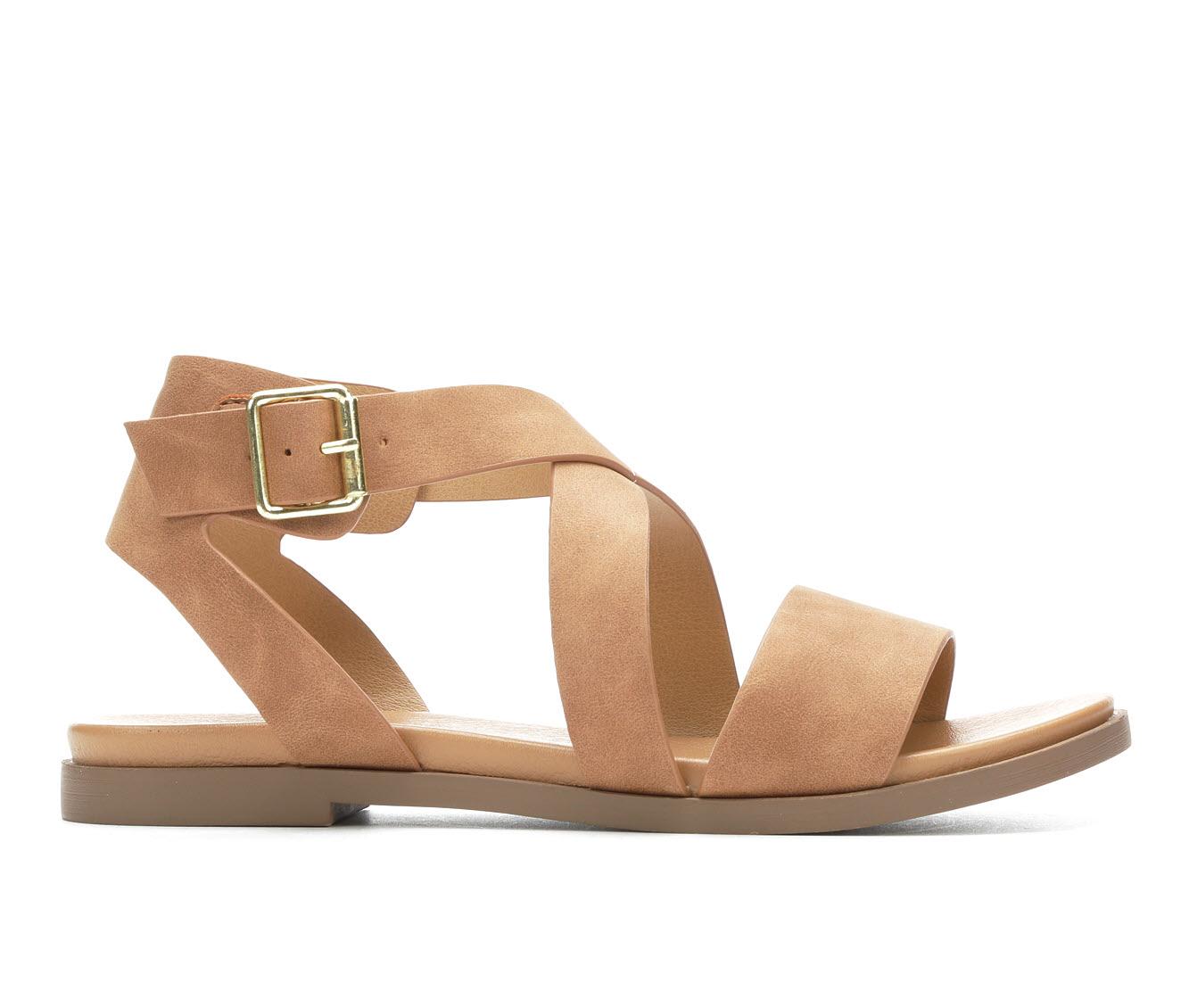 Solanz Spend Women's Sandal (Beige Faux Leather)