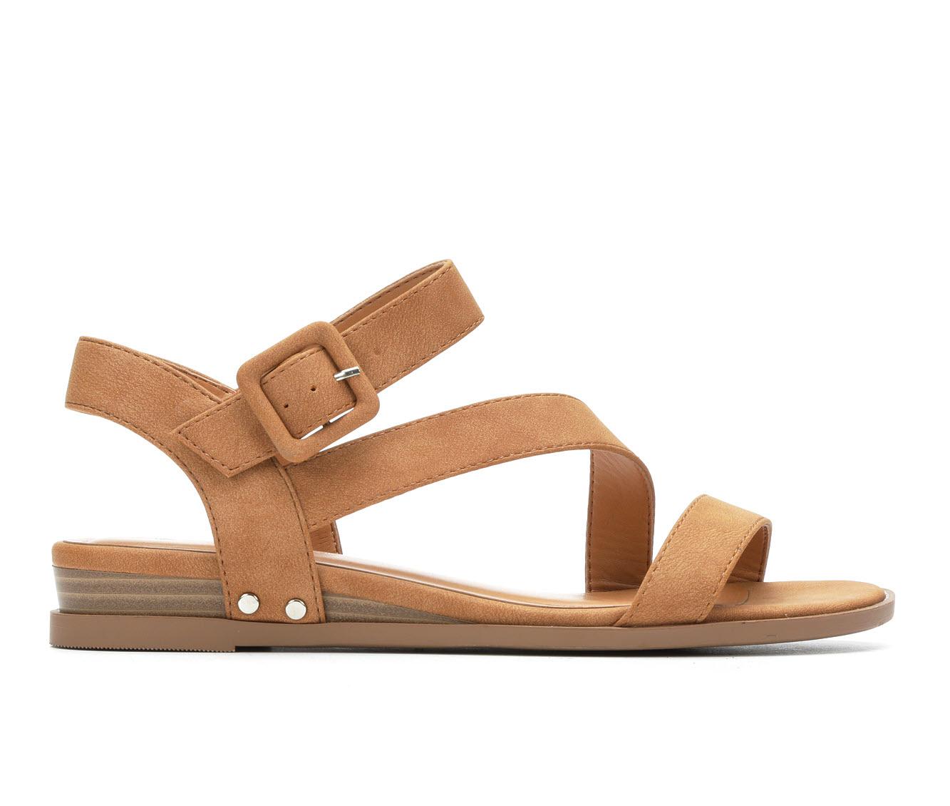 Solanz Sydney Women's Sandal (Beige Faux Leather)