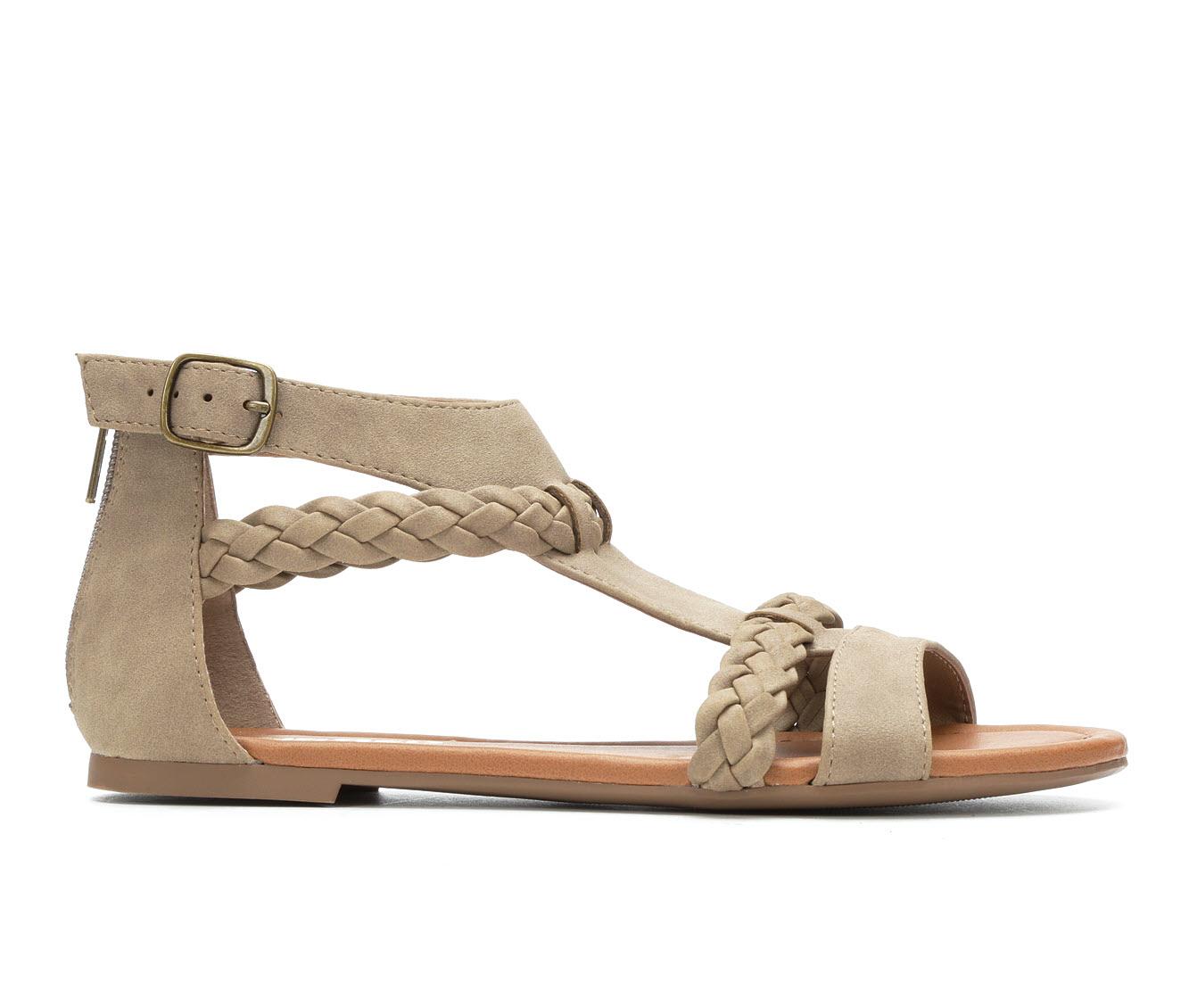 Unr8ed Scent Women's Sandal (Beige Faux Leather)