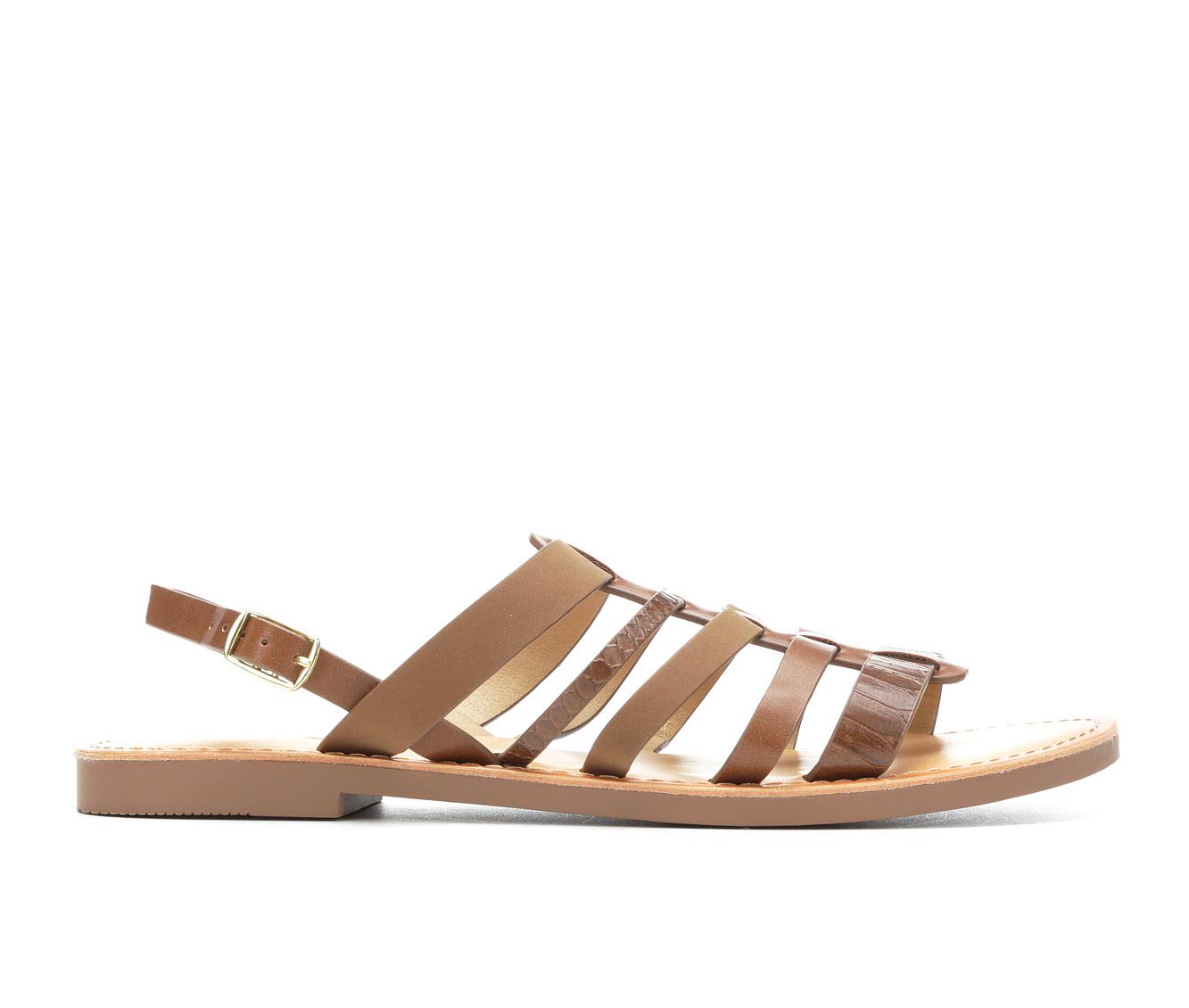Unr8ed Brownch Women's Sandal (Beige Faux Leather)
