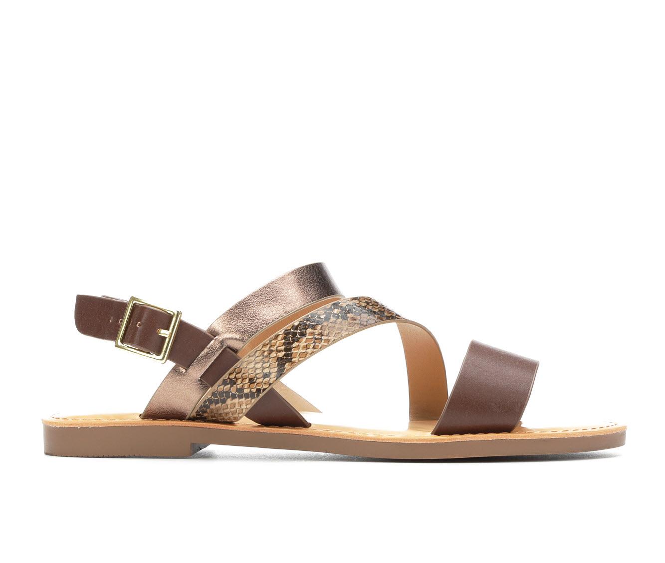 Y-Not Serene Women's Sandal (Beige Faux Leather)