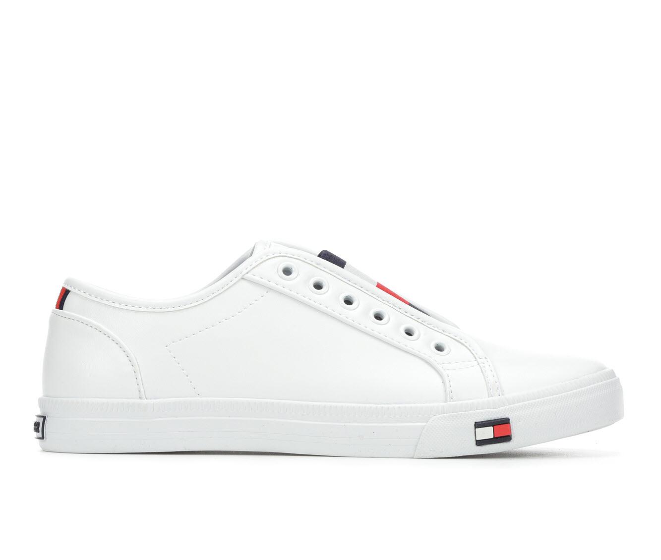 Tommy Hilfiger Anni Women's Shoe (White Faux Leather)
