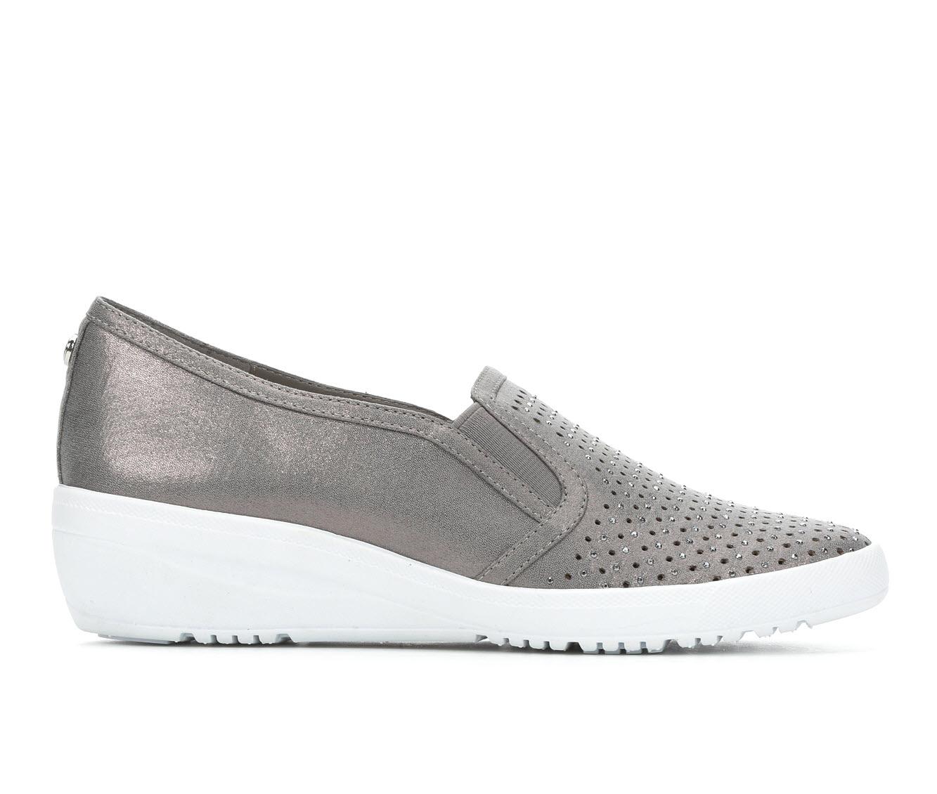 Anne Klein Sport York Women's Shoe (Silver Canvas)