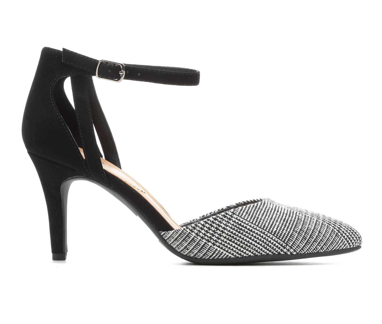 Solanz Alina Women's Dress Shoe (Black Faux Leather)