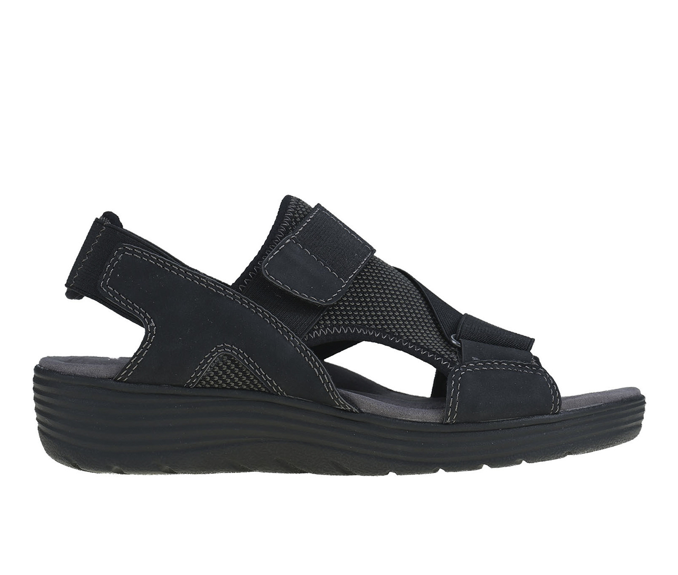 Earth Origins Willow Genevieve Women's Sandal (Black Canvas)