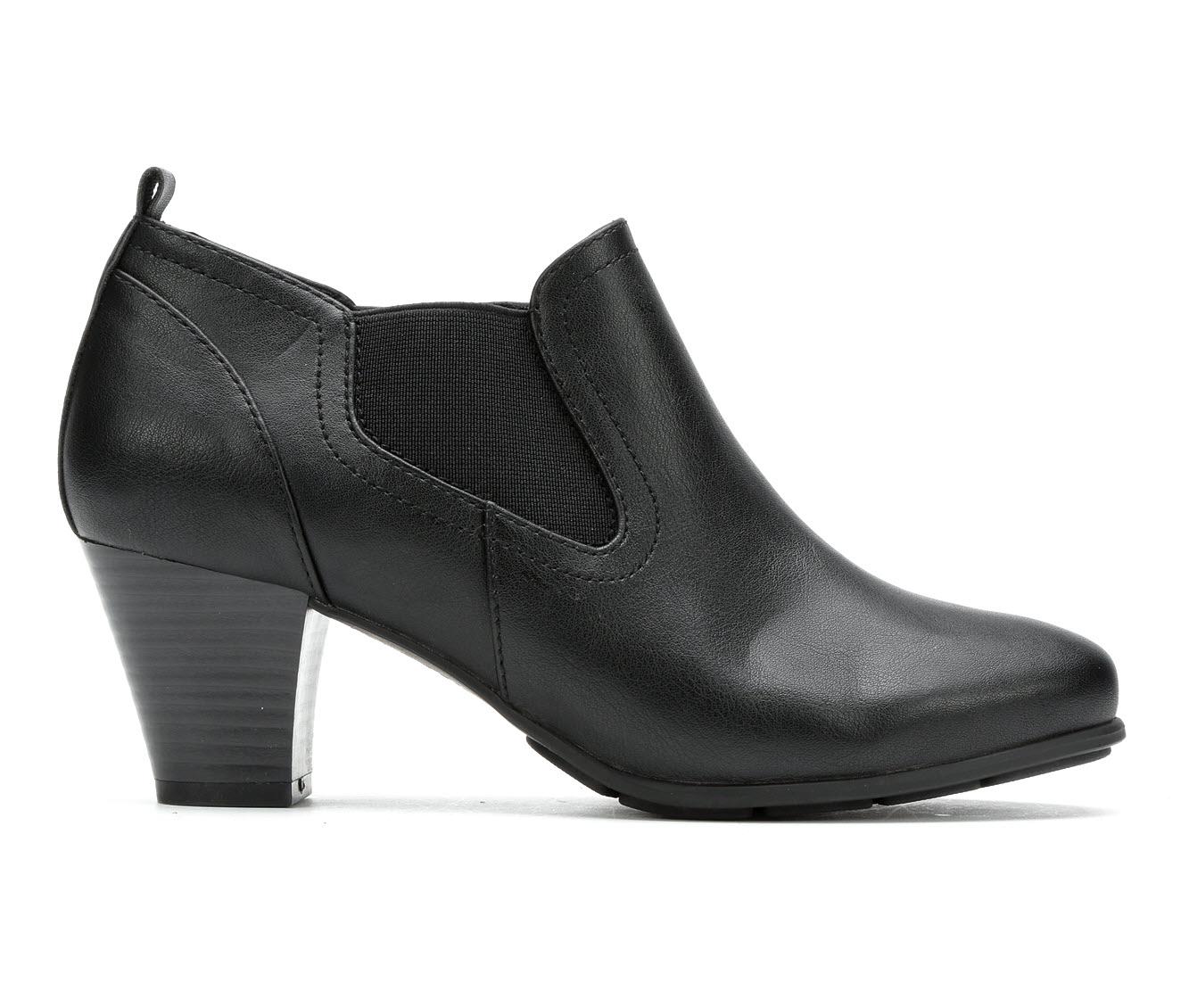 Solanz Nelli Women's Dress Shoe (Black Faux Leather)