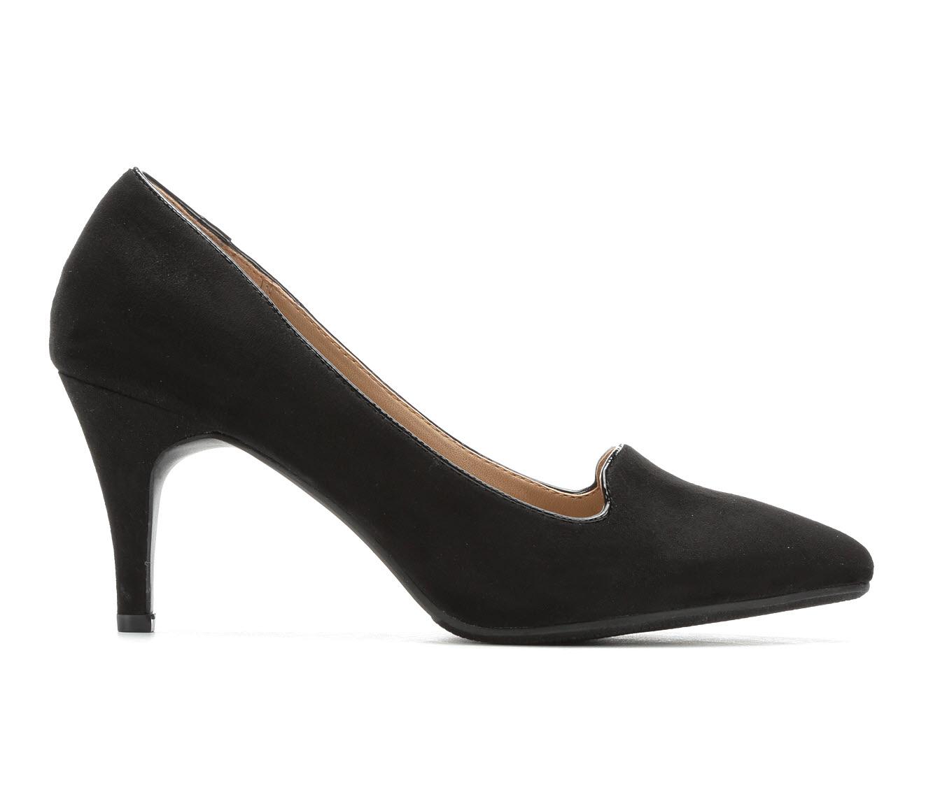 Solanz Payton Women's Dress Shoe (Black Canvas)