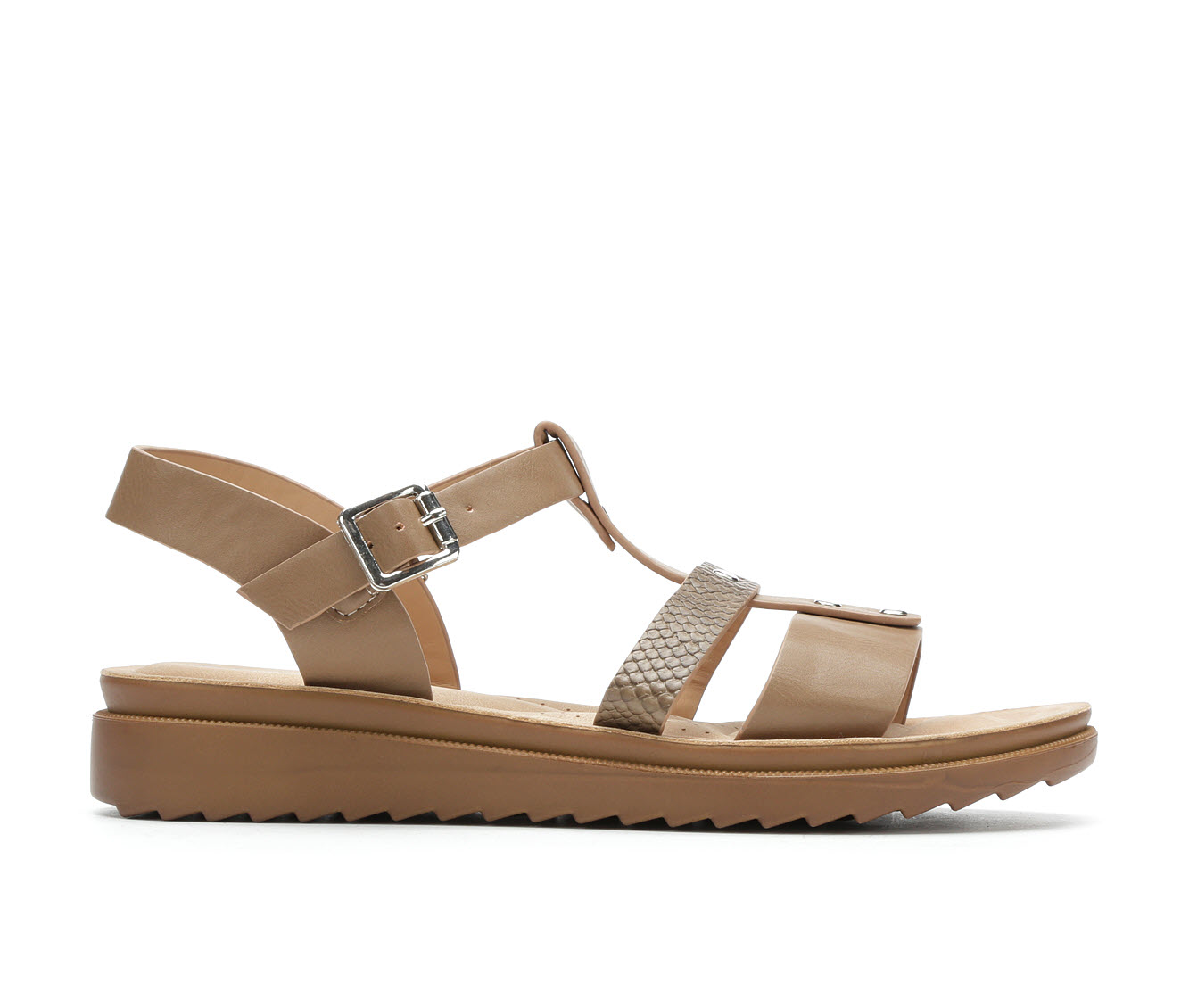 Andiamo Oilly Women's Sandal (Beige Faux Leather)