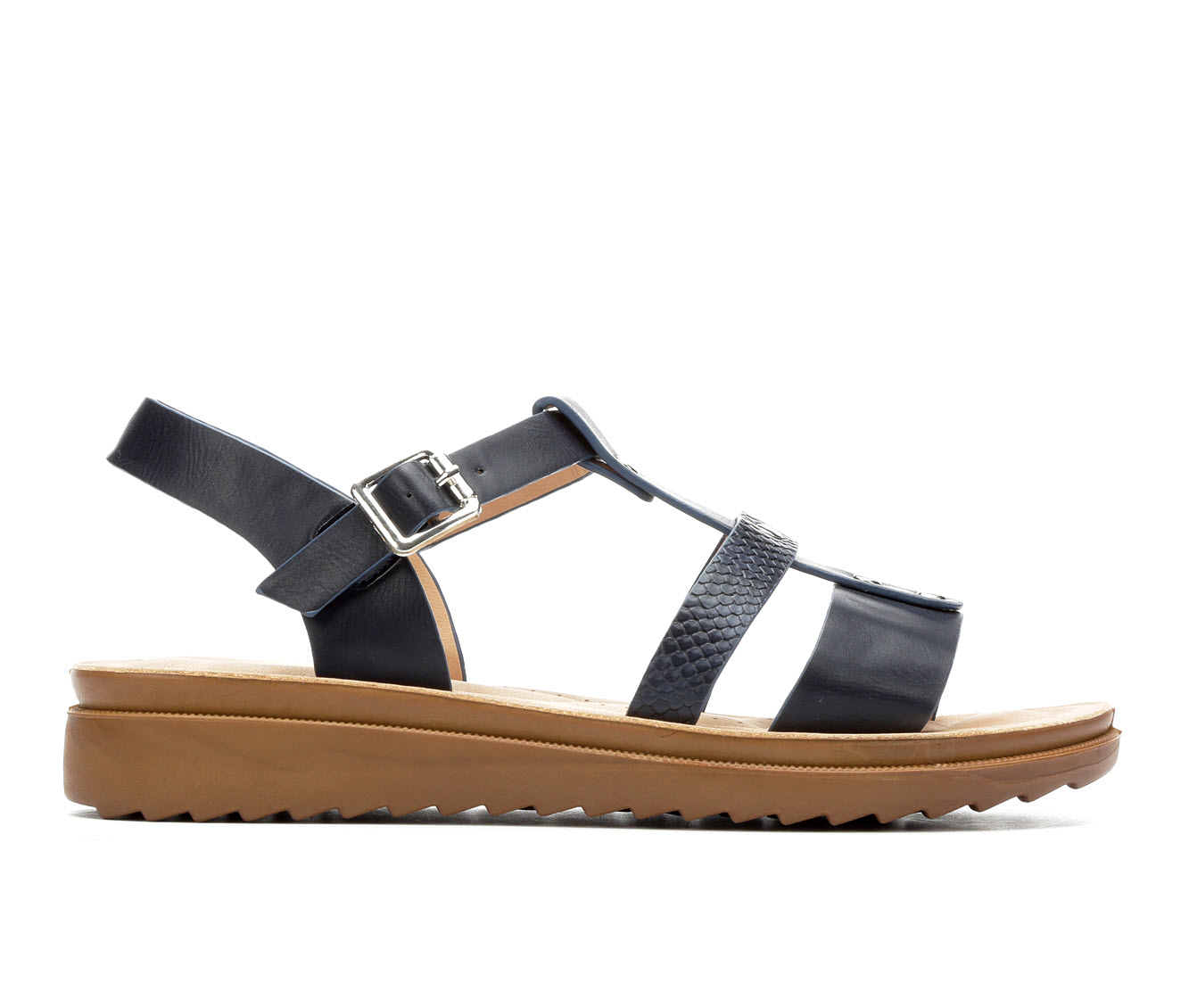 Andiamo Oilly Women's Sandal (Blue Faux Leather)
