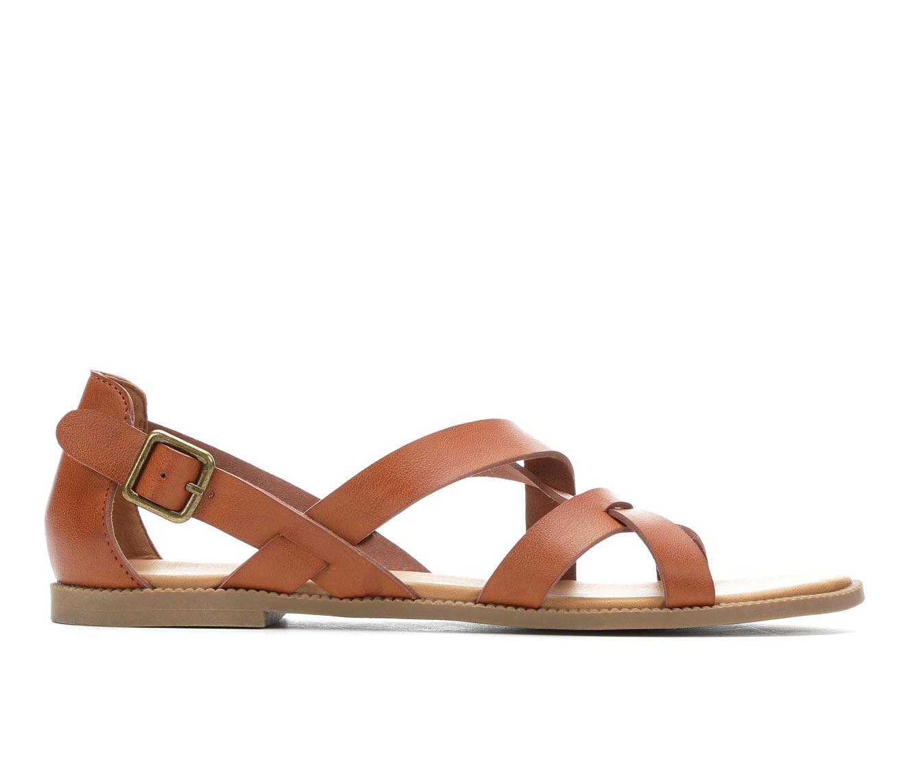 Andiamo Corn Women's Sandal (Brown Faux Leather)