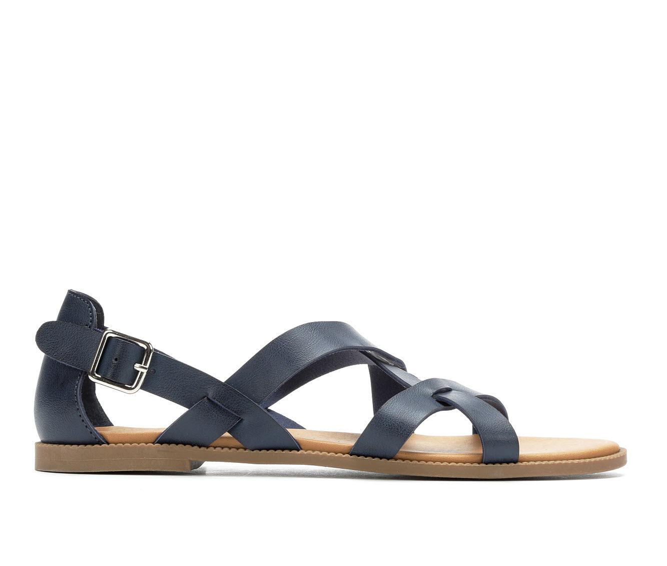 Andiamo Corn Women's Sandal (Blue Faux Leather)