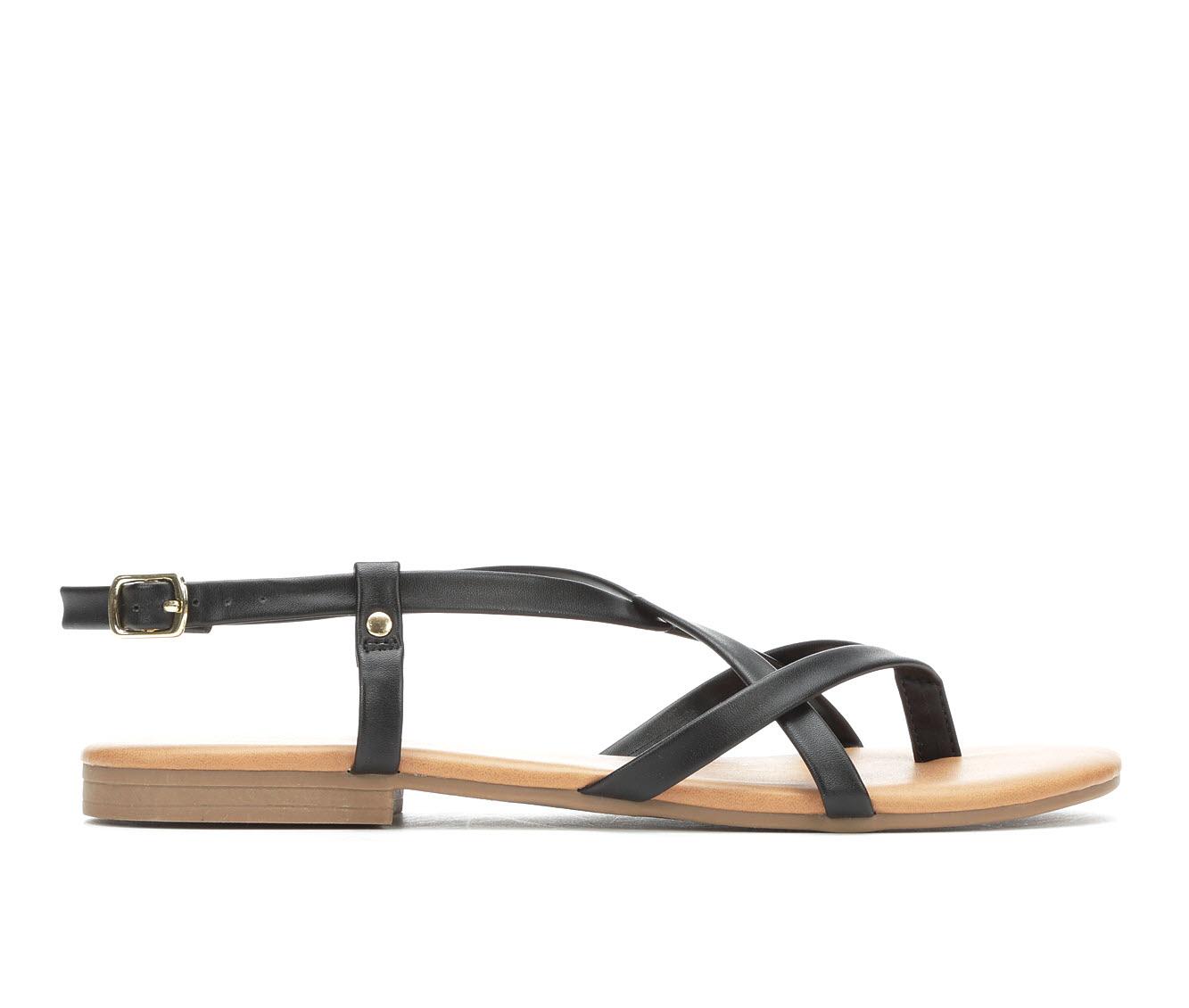 Andiamo Vigor Women's Sandal (Black Faux Leather)