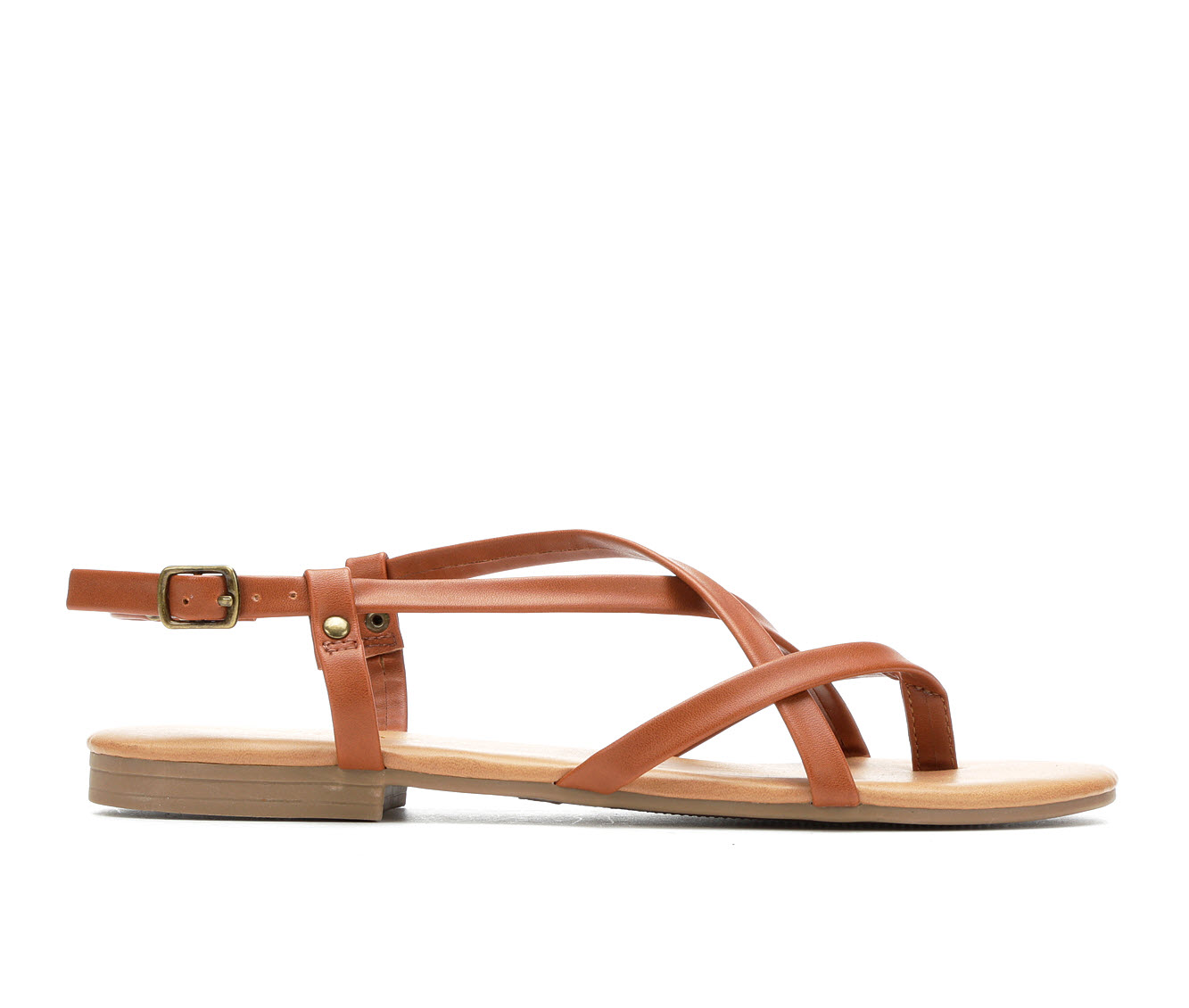 Andiamo Vigor Women's Sandal (Brown Faux Leather)