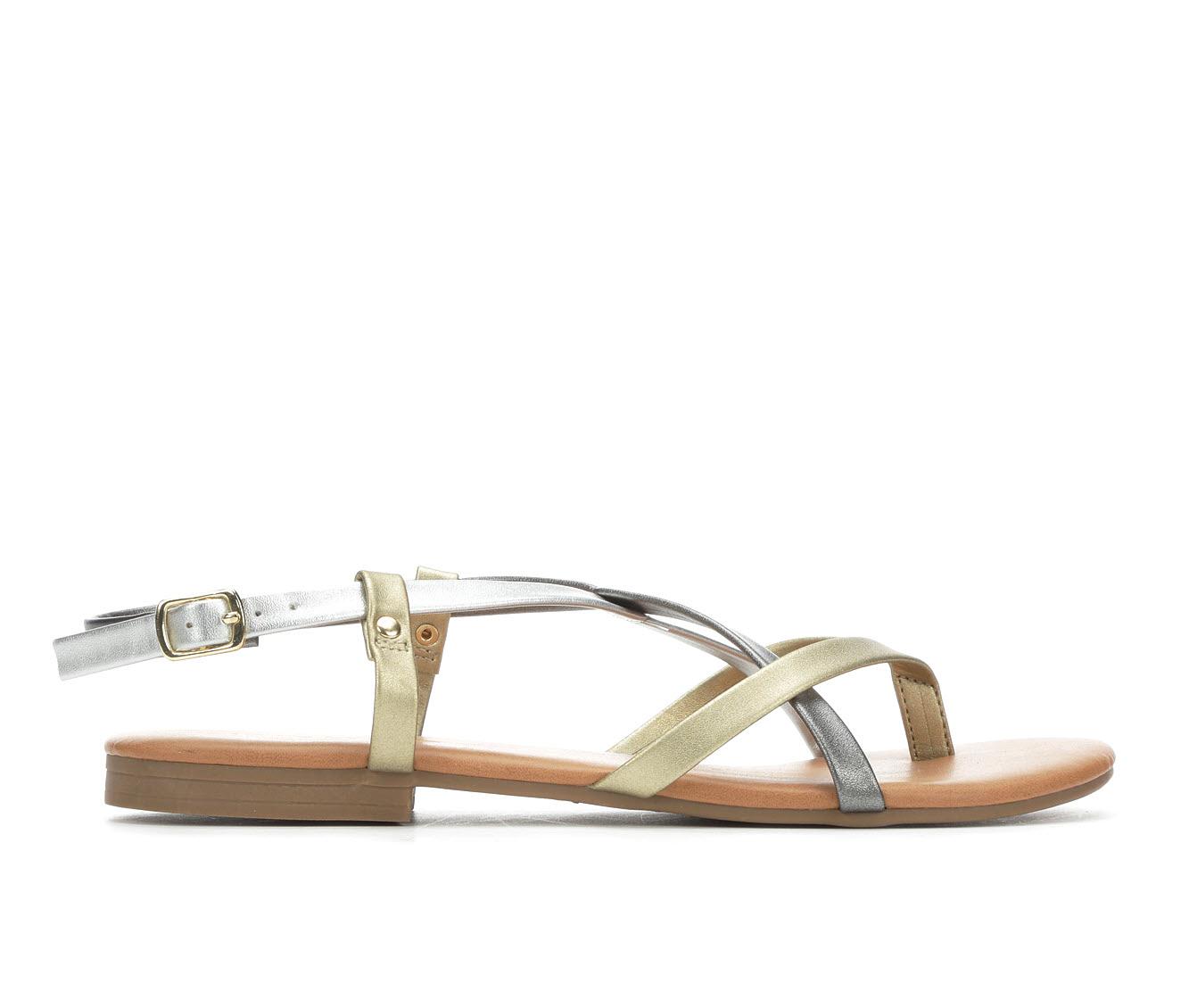 Andiamo Vigor Women's Sandal (Gray Faux Leather)