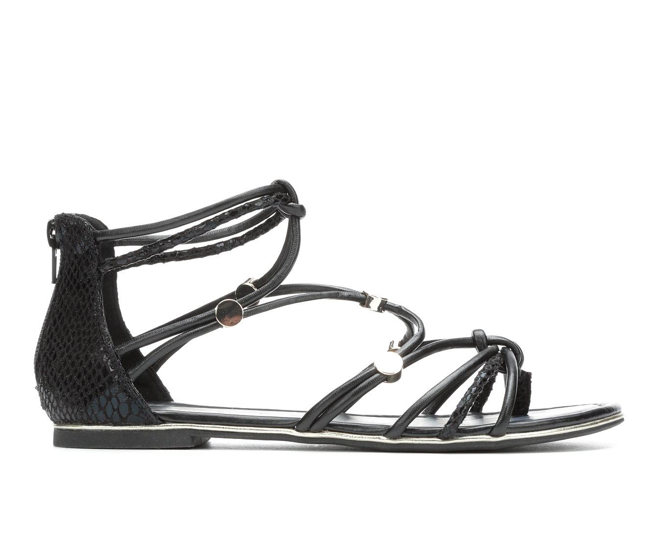 Andiamo Bright Women's Sandal (Black Faux Leather)