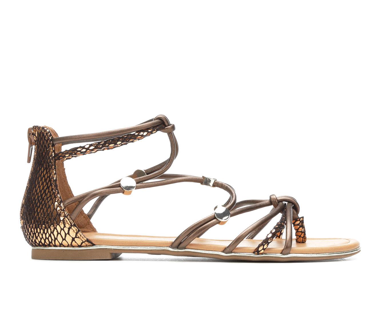 Andiamo Bright Women's Sandal (Gold Faux Leather)