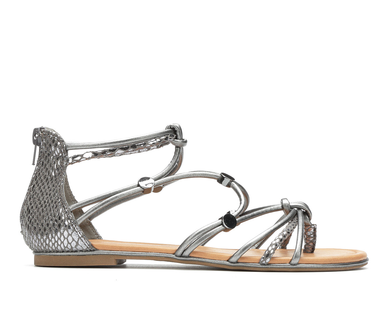 Andiamo Bright Women's Sandal (Gray Faux Leather)