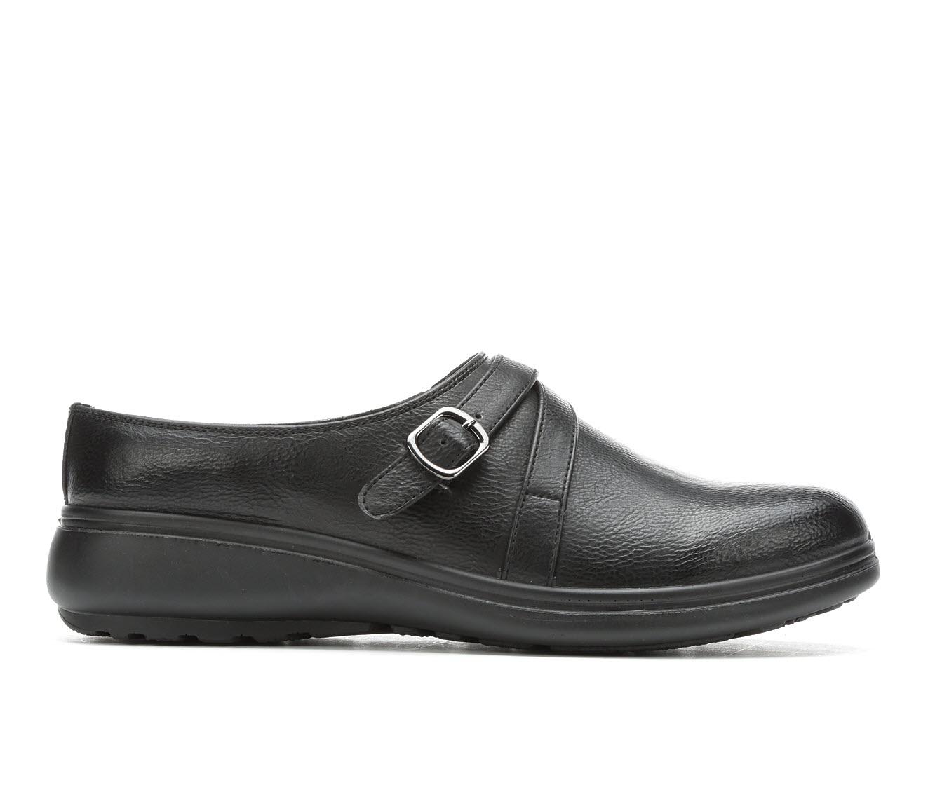 Easy Street Chai Women's Shoe (Black Faux Leather)