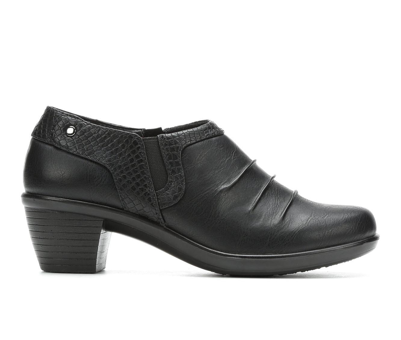Easy Street Cleo Women's Shoe (Black Faux Leather)
