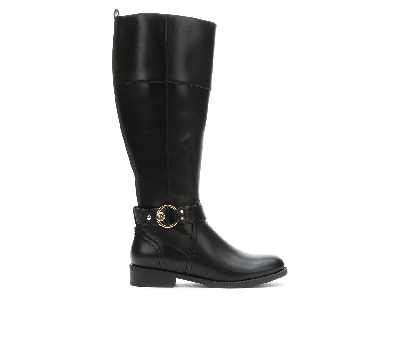 Tommy Hilfiger Isha Wide Width Wide Calf Women's Boots (Black - Faux Leather)