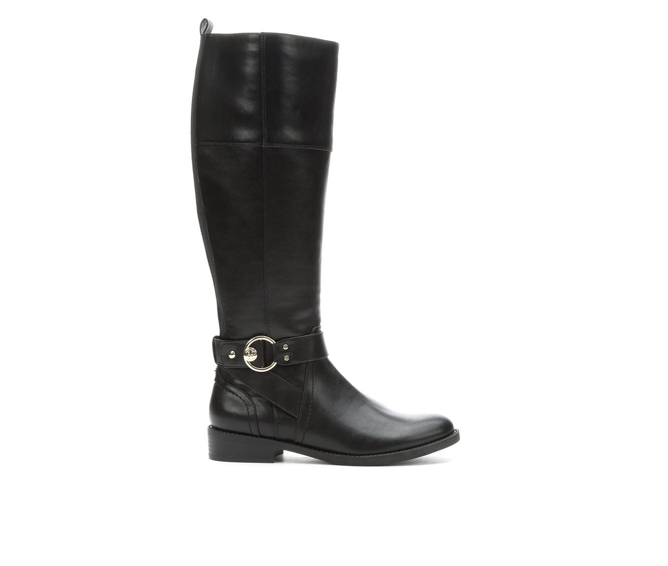 Tommy Hilfiger Isha Women's Boot (Black Faux Leather)