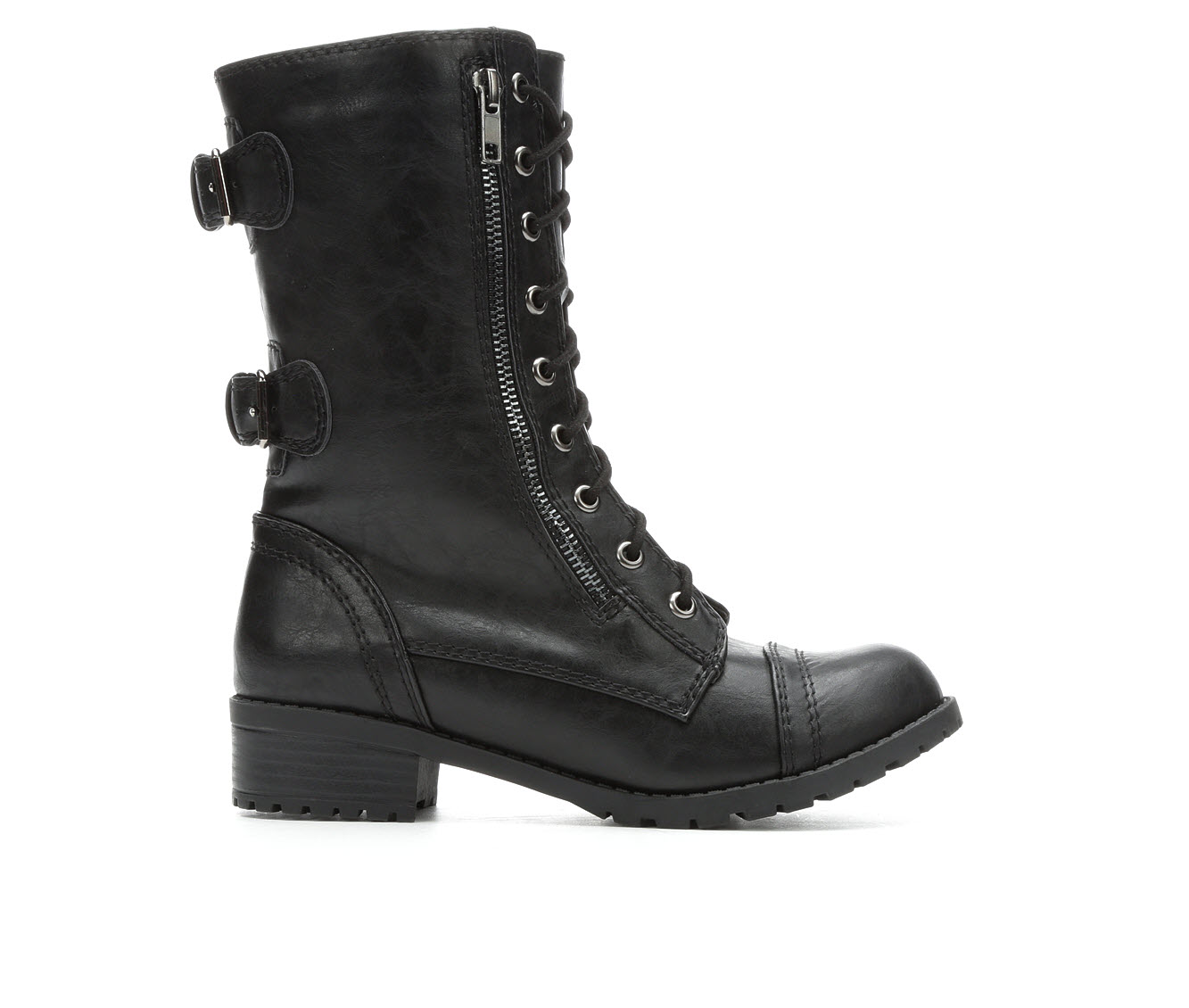 Unr8ed Dome Women's Boot (Black Faux Leather)