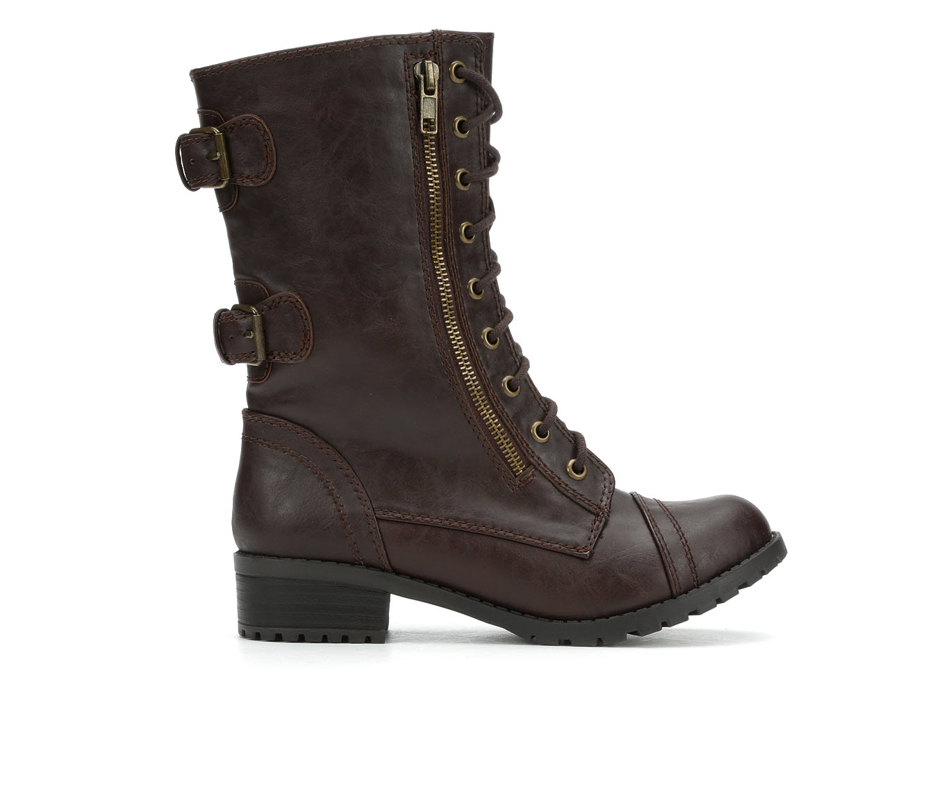 Unr8ed Dome Women's Boot (Brown Faux Leather)