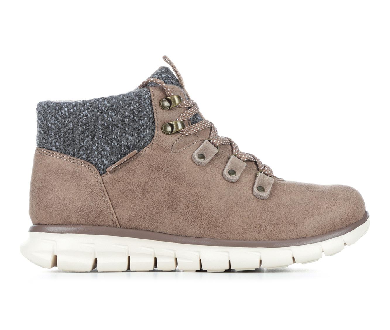 Skechers Synergy Mountain Dreamer Women's Boot (Beige Faux Leather)