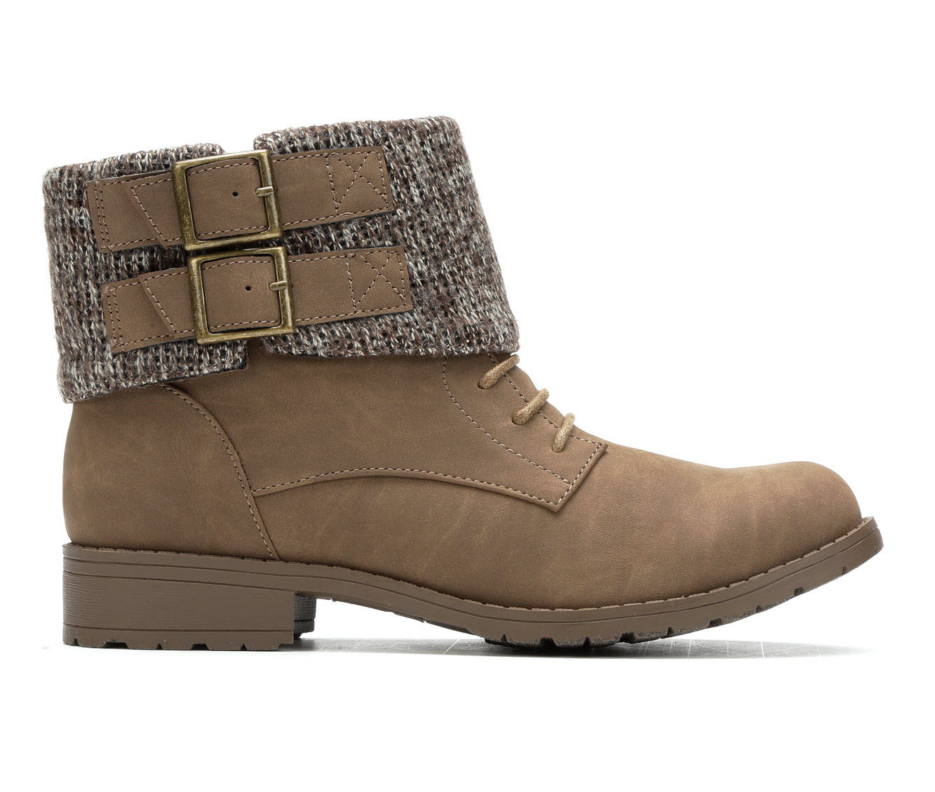 Rocket Dog Babster Women's Boot (Brown Faux Leather)