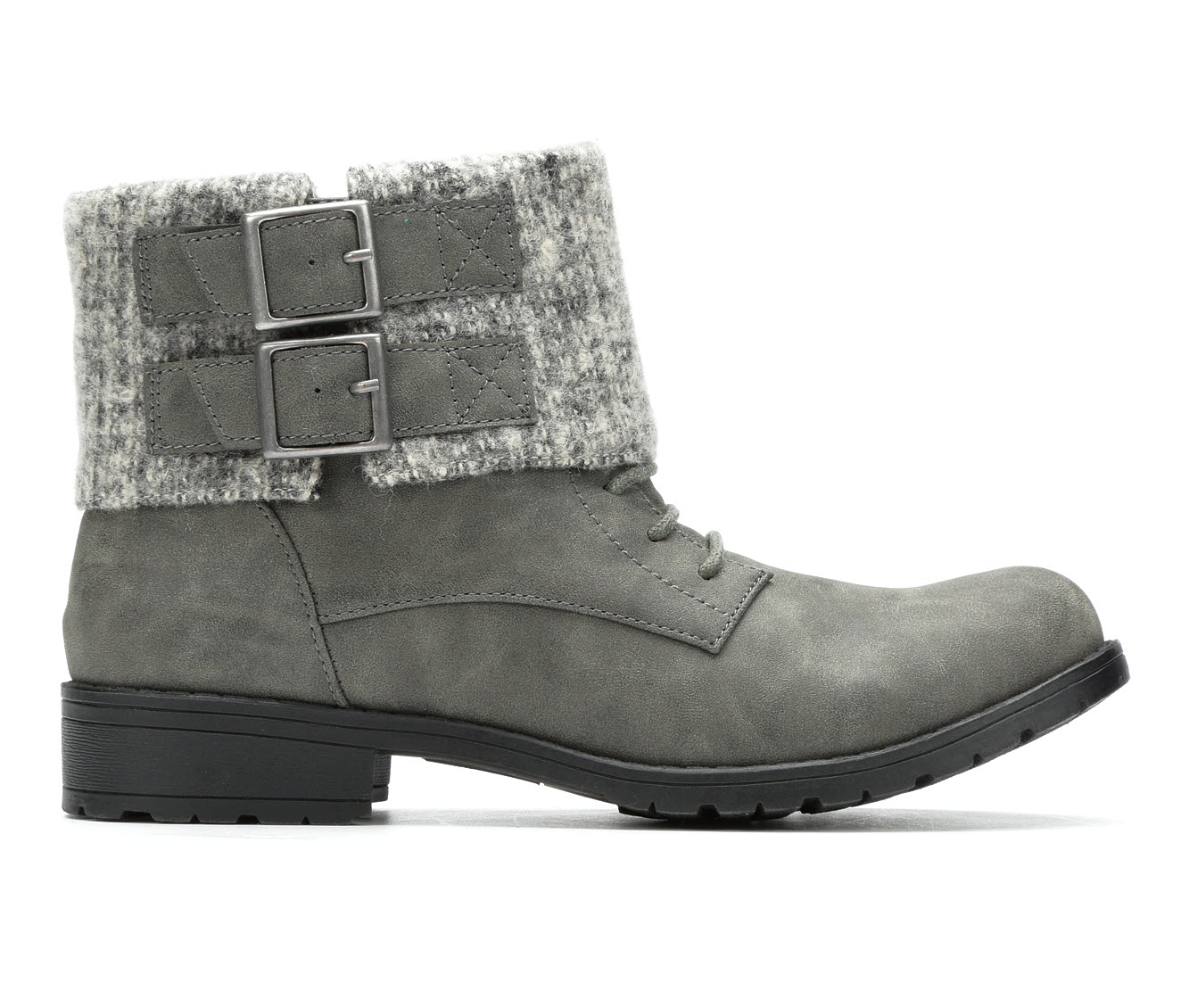 Rocket Dog Babster Women's Boot (Gray Faux Leather)