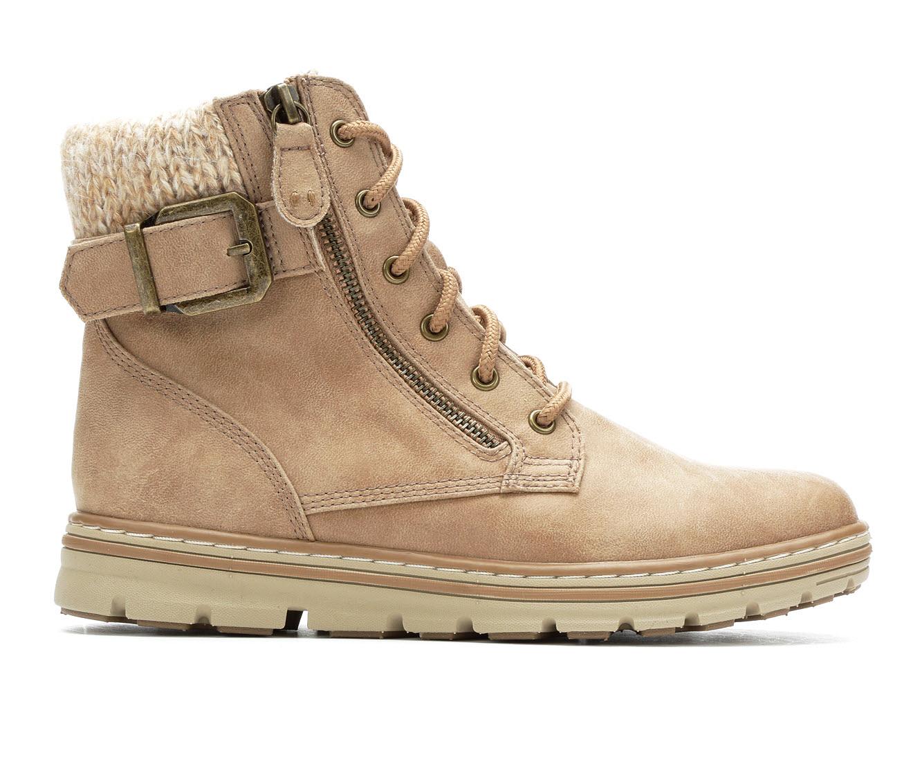 Cliffs Kelsie Women's Boot (Beige Faux Leather)