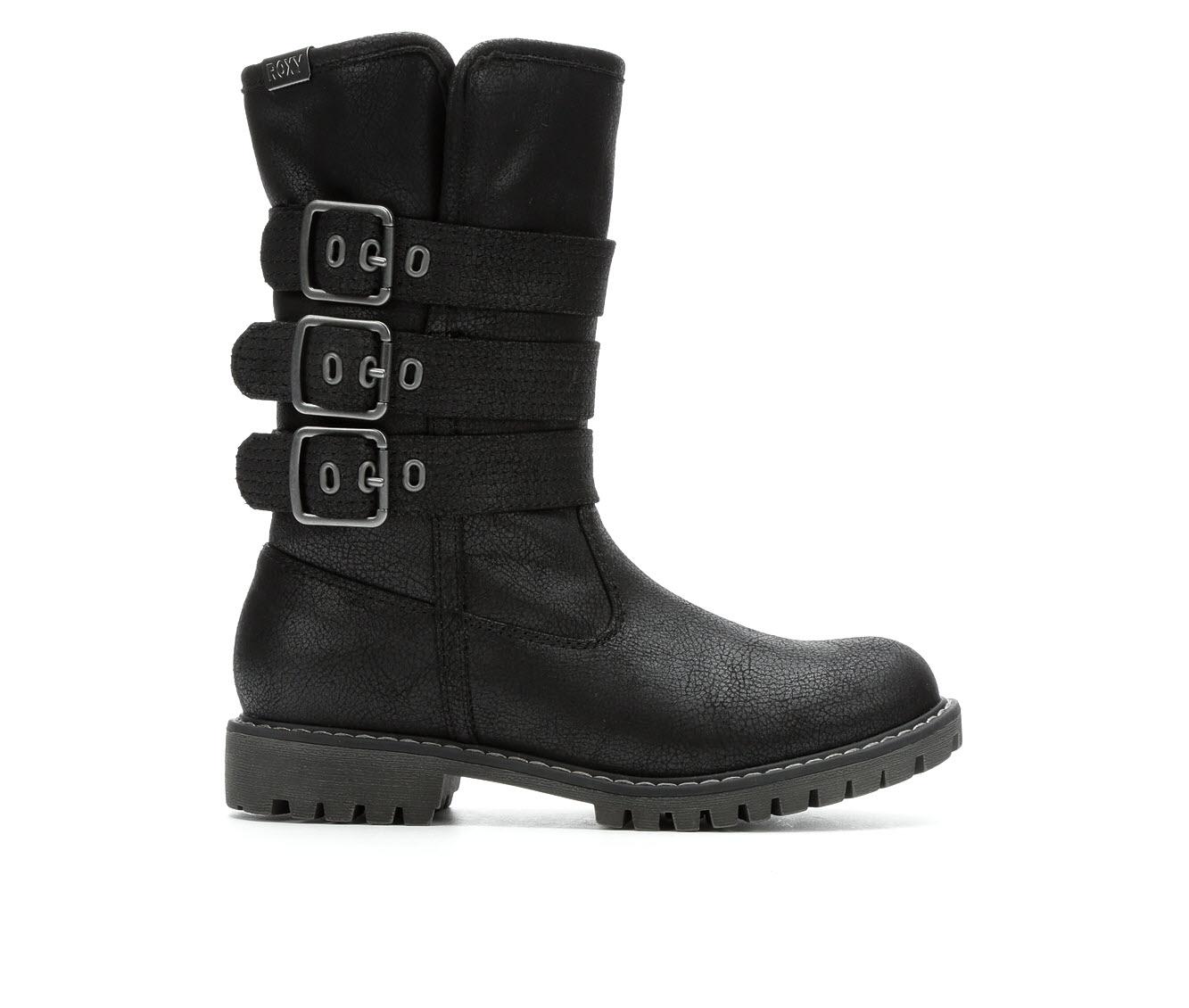 Roxy Bennett II Women's Boot (Black Faux Leather)