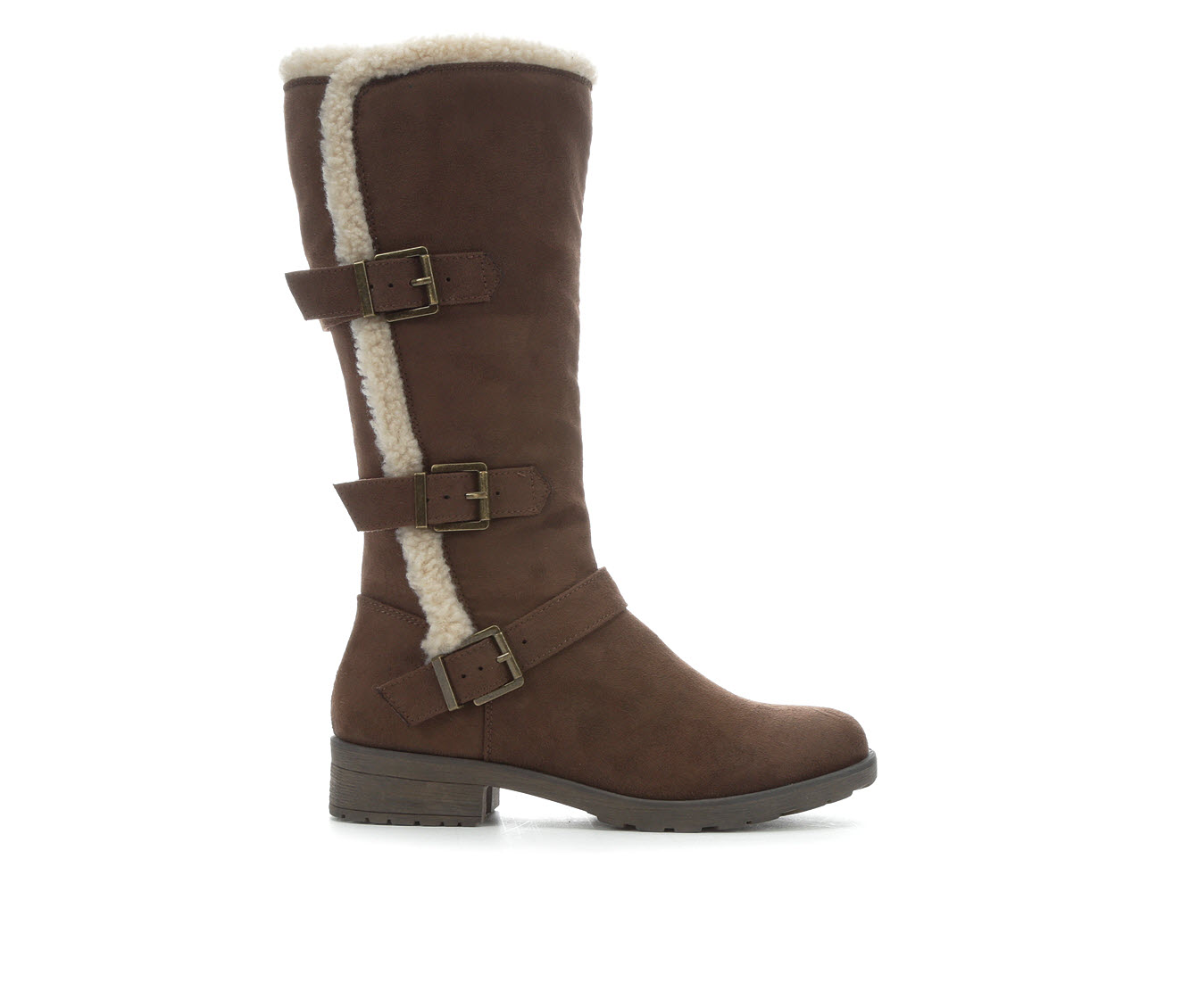 White Mountain Santell Women's Boots (Brown - Faux Leather)