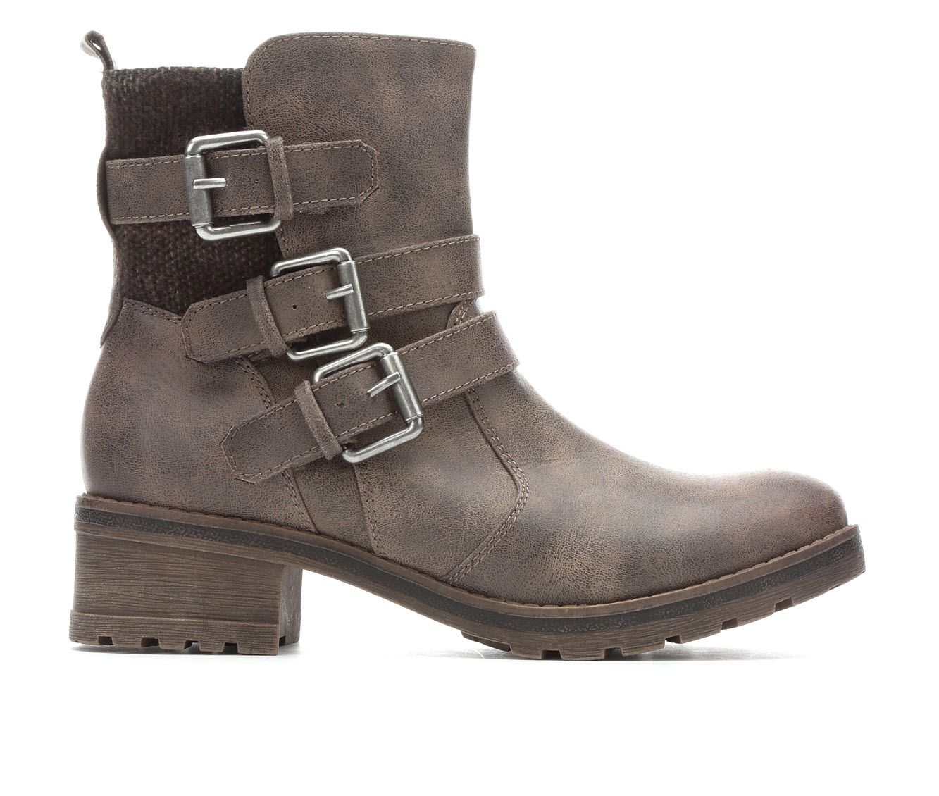 White Mountain Clover Women's Boots (Gray - Faux Leather)