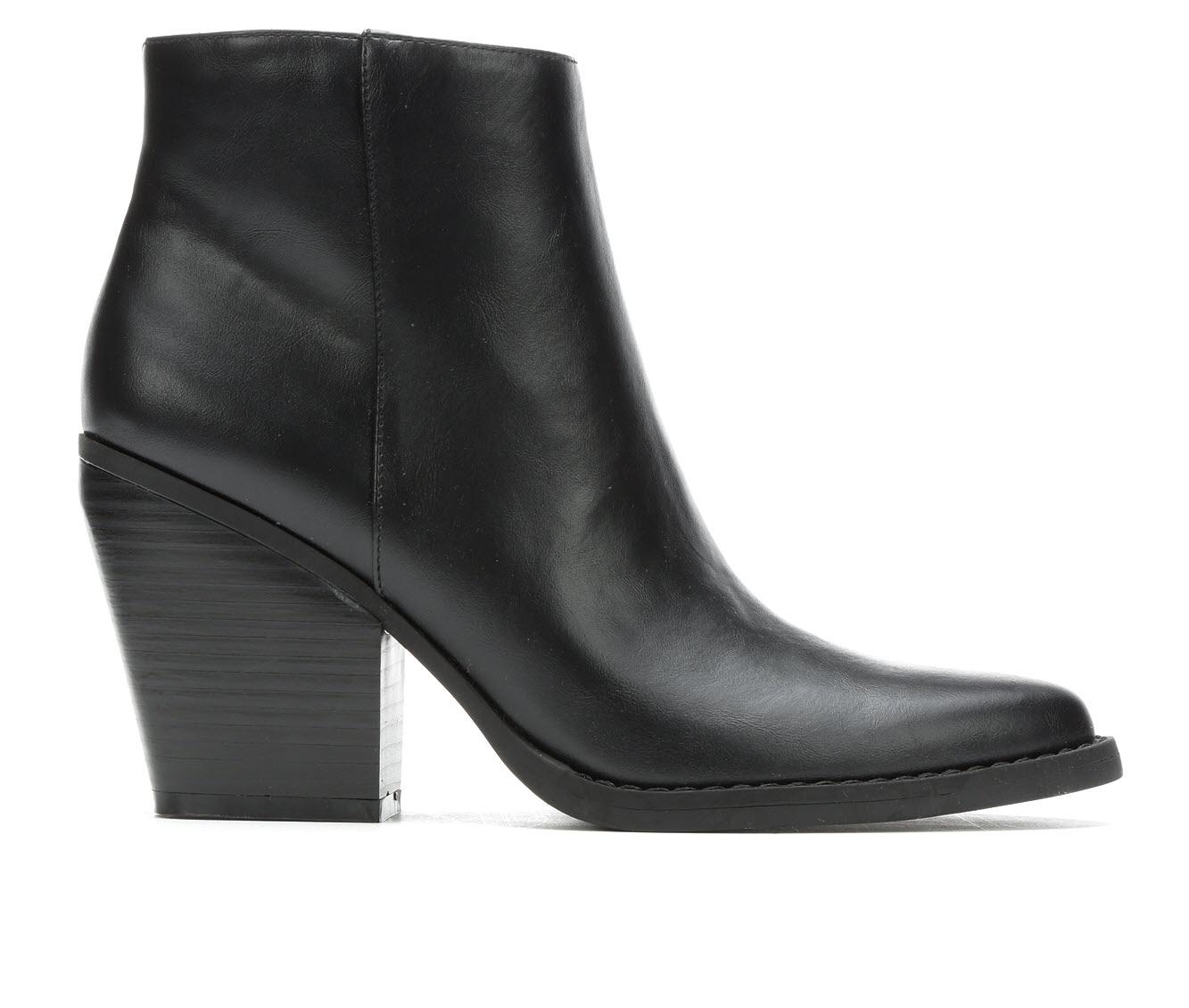 Madden Girl Klicck Women's Boot (Black Faux Leather)