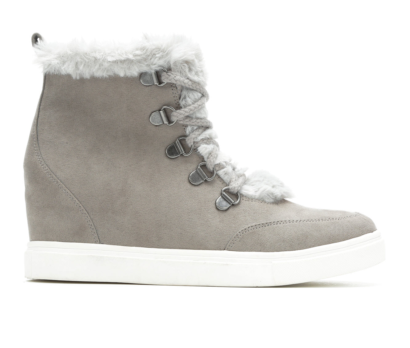 Madden Girl Pulley Women's Boot (Gray Canvas)