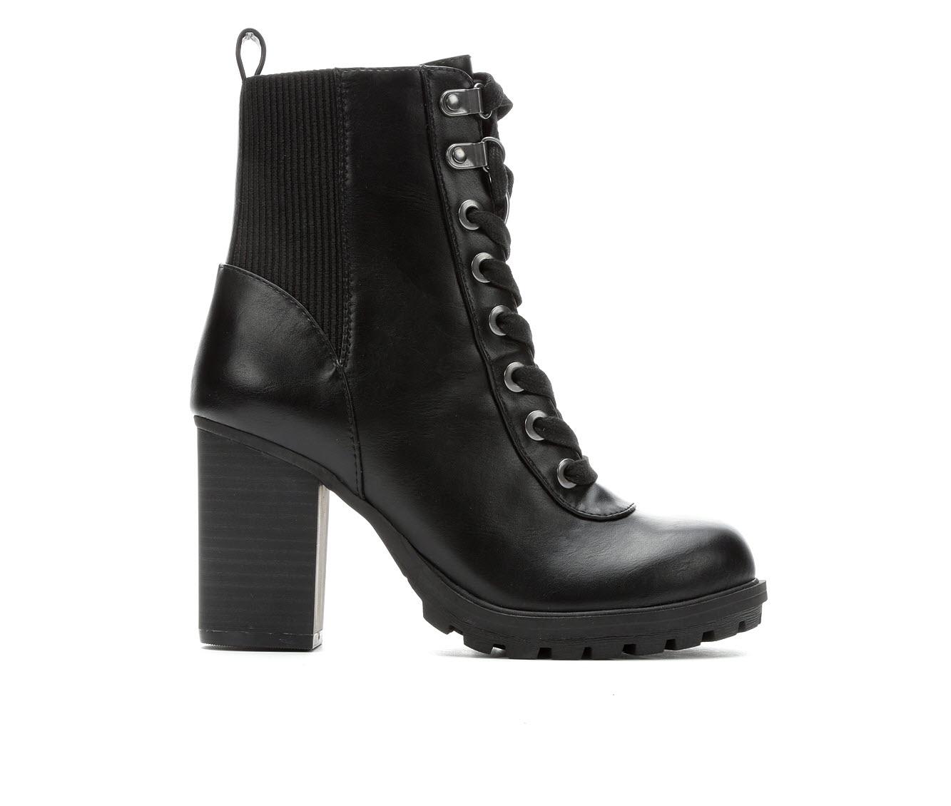 David Aaron Fleecie Women's Boot (Black Faux Leather)