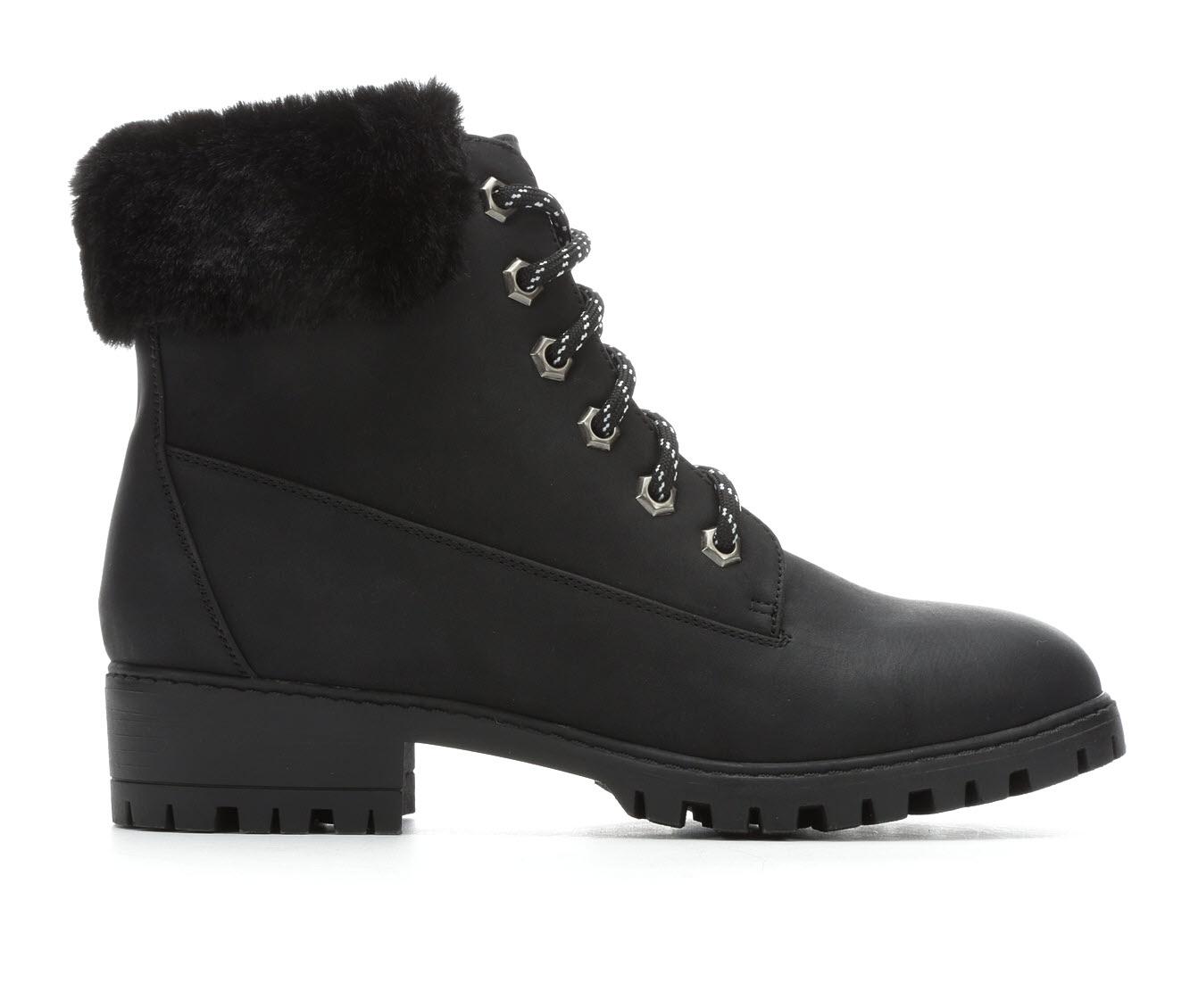 Madden Girl Frannkie Women's Boot (Black Faux Leather)