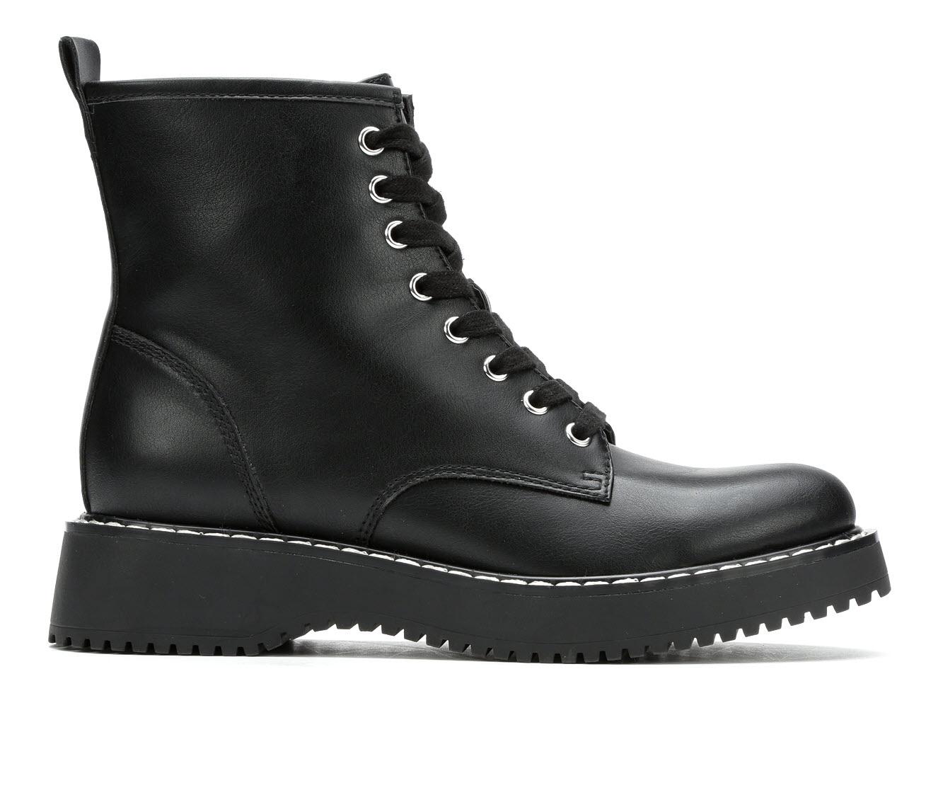 Madden Girl Kurrt Women's Boot (Black Faux Leather)