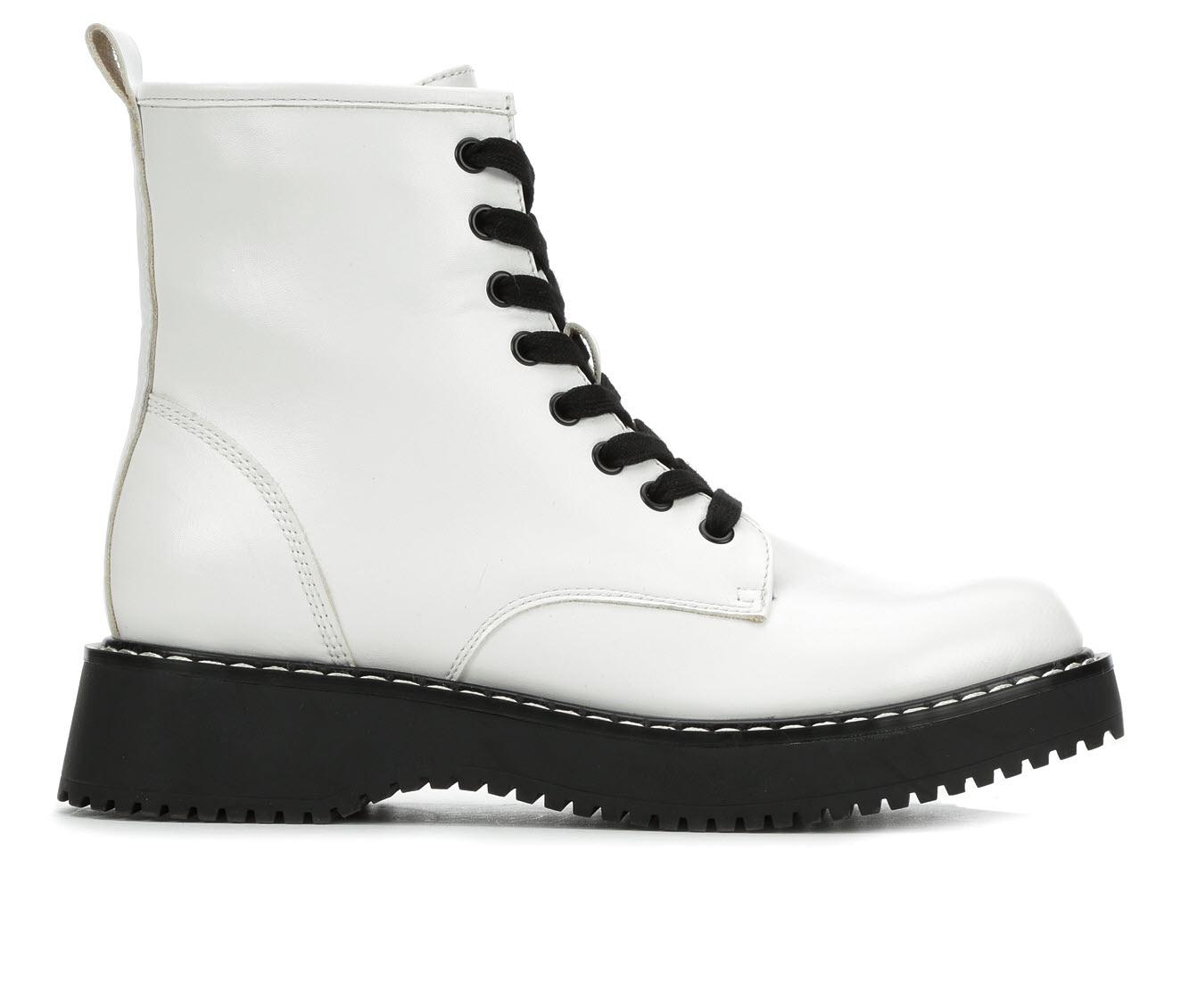 Madden Girl Kurrt Women's Boot (White Faux Leather)