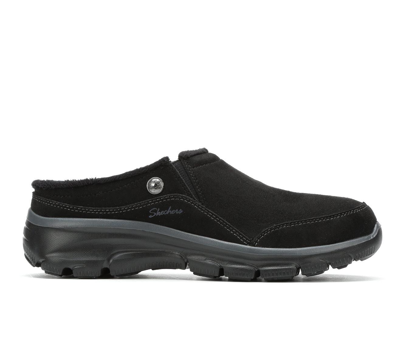 Skechers Easy Going Latte 49532 Women's Shoe (Black Suede)
