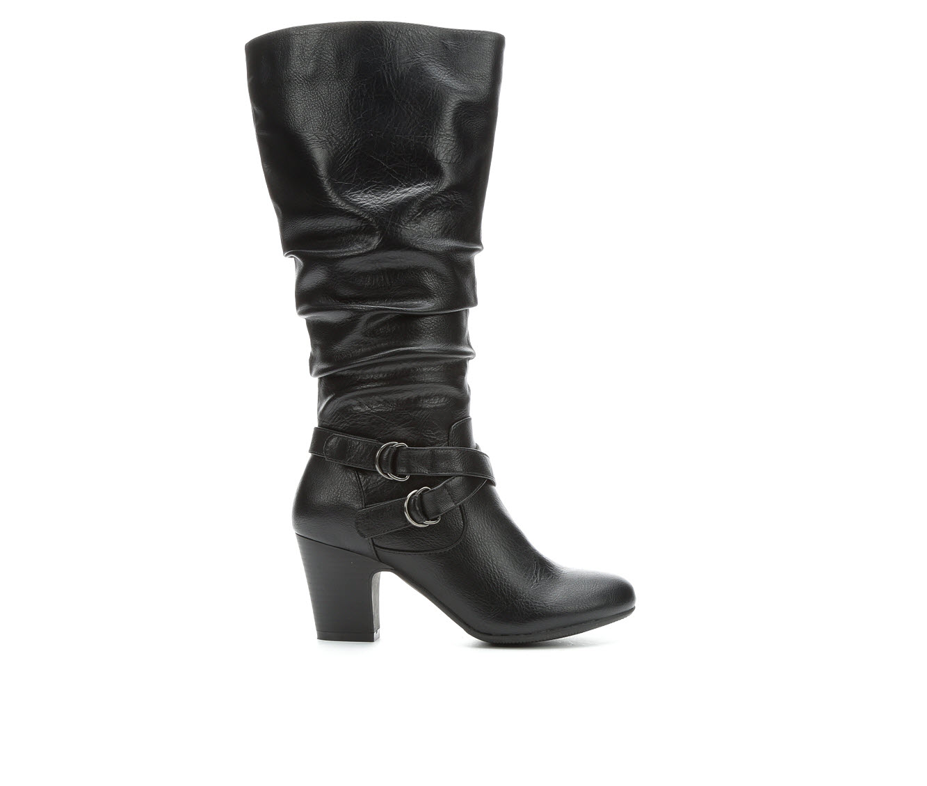 Solanz Poesy Women's Boot (Black Faux Leather)